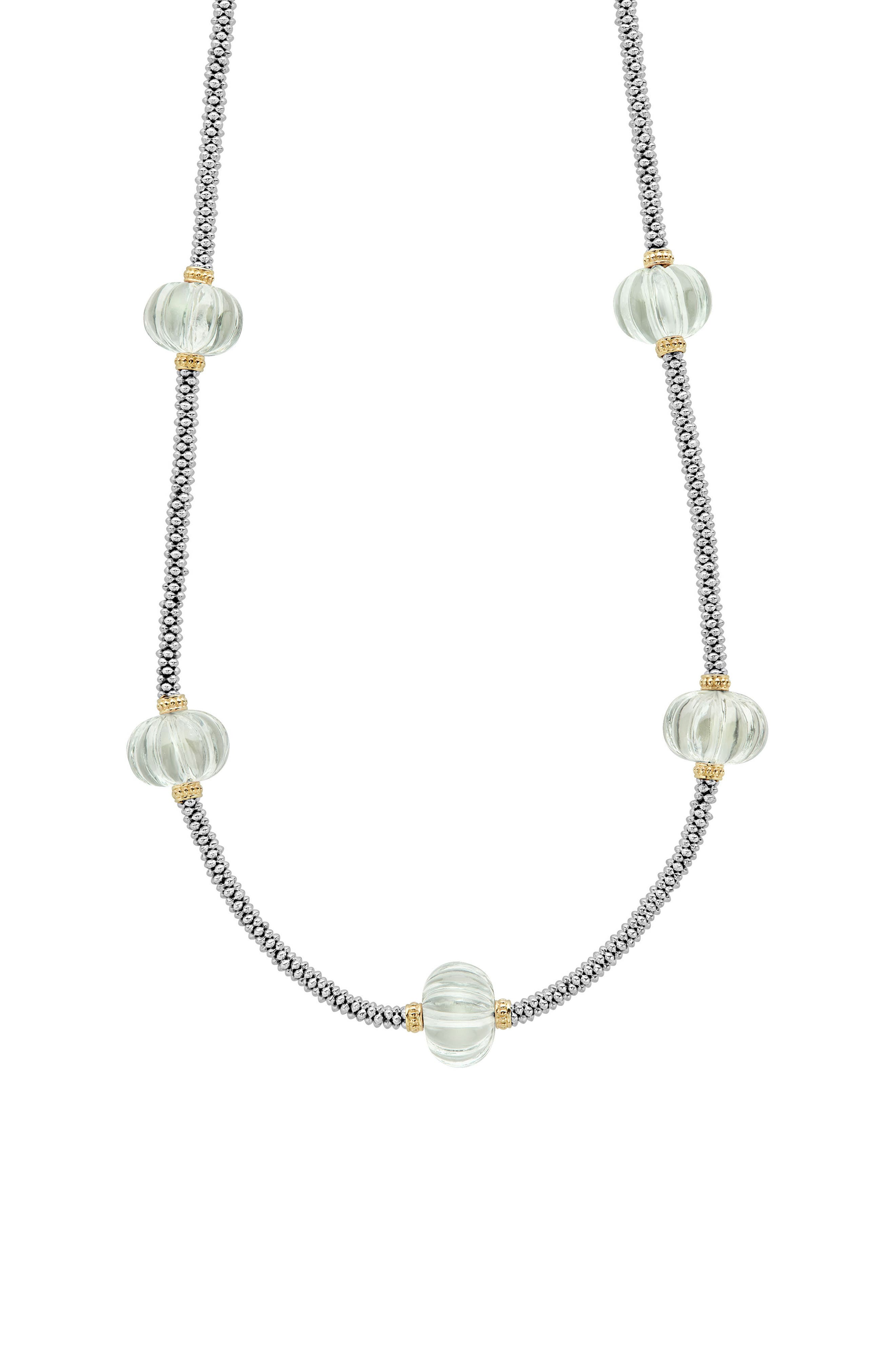 Caviar Forever Gemstone Melon Bead Rope Necklace,                             Alternate thumbnail 2, color,                             300