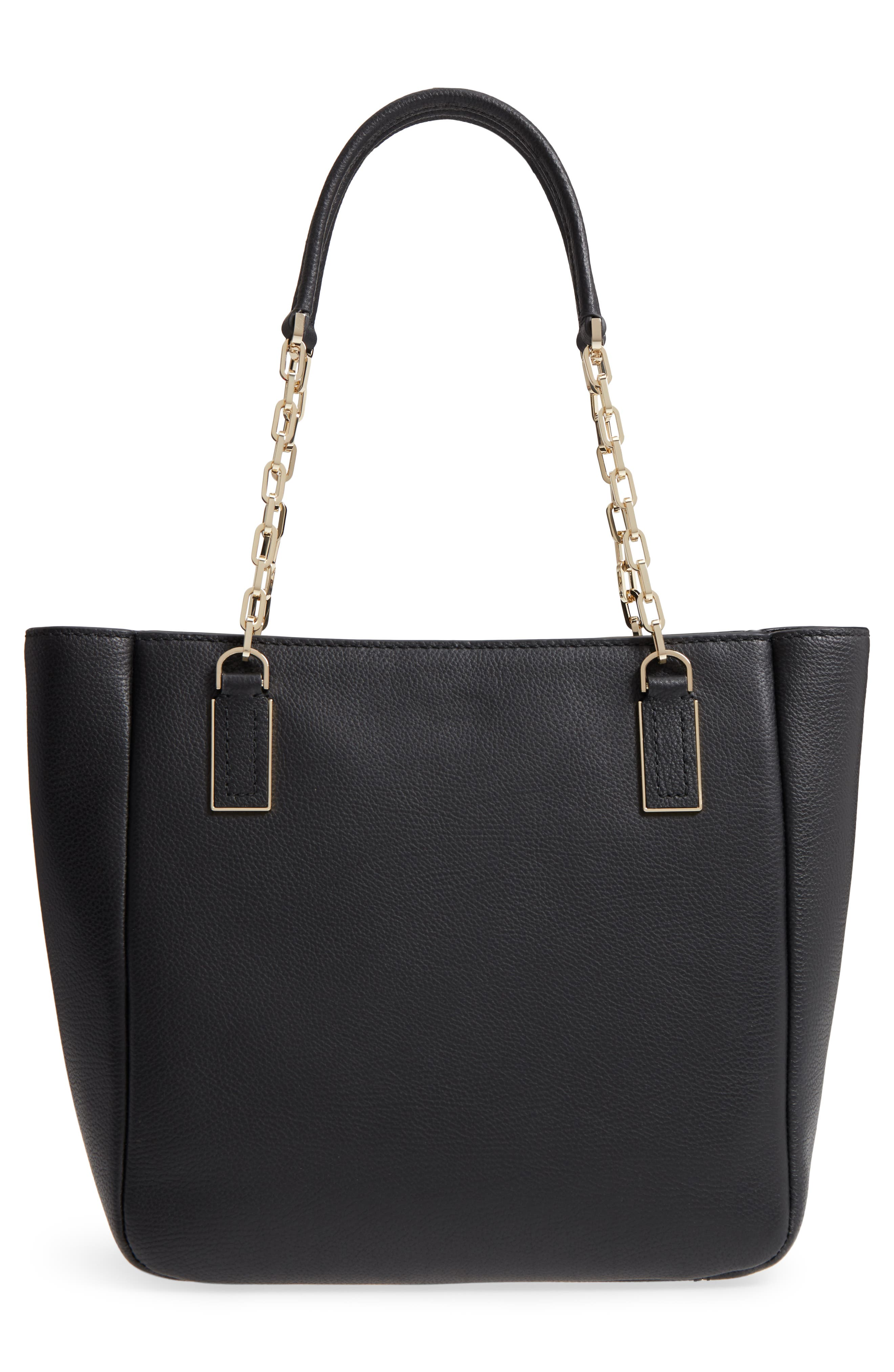 kingston drive - vivian leather tote,                             Alternate thumbnail 3, color,                             001