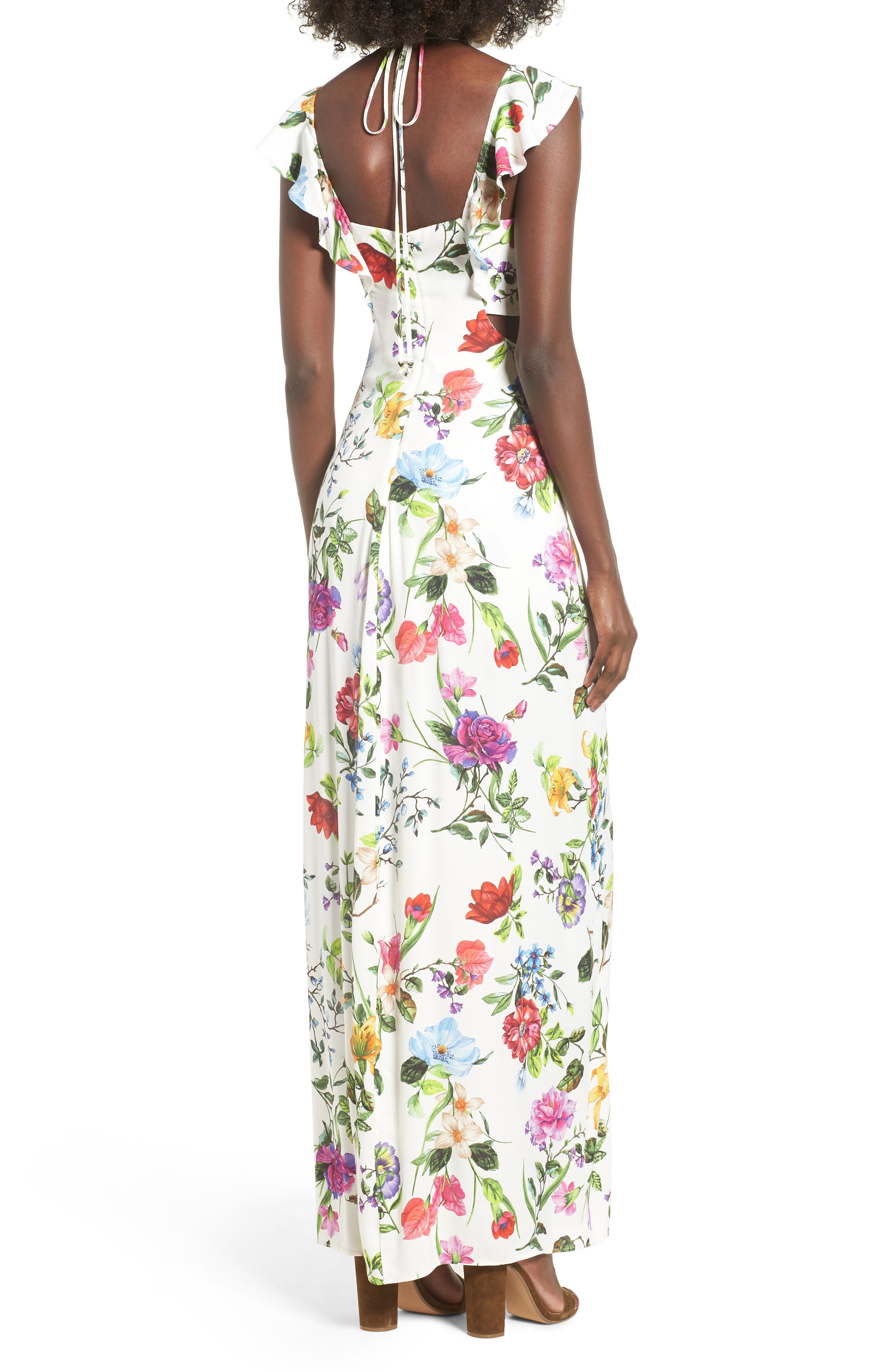 Alya Maxi Dress,                             Alternate thumbnail 2, color,                             JARDIN BLANC