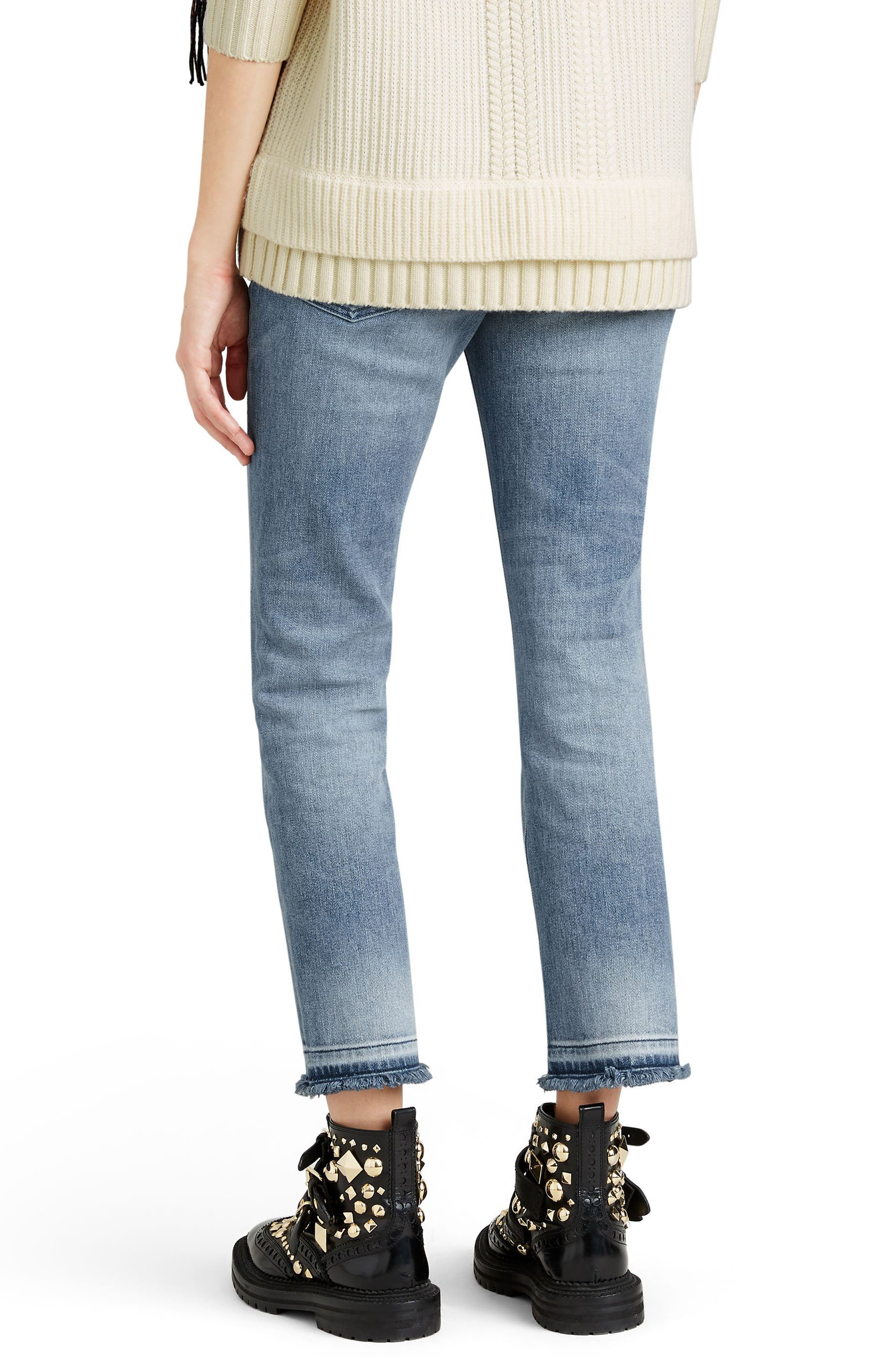 Relaxed Crop Jeans,                             Alternate thumbnail 3, color,                             456