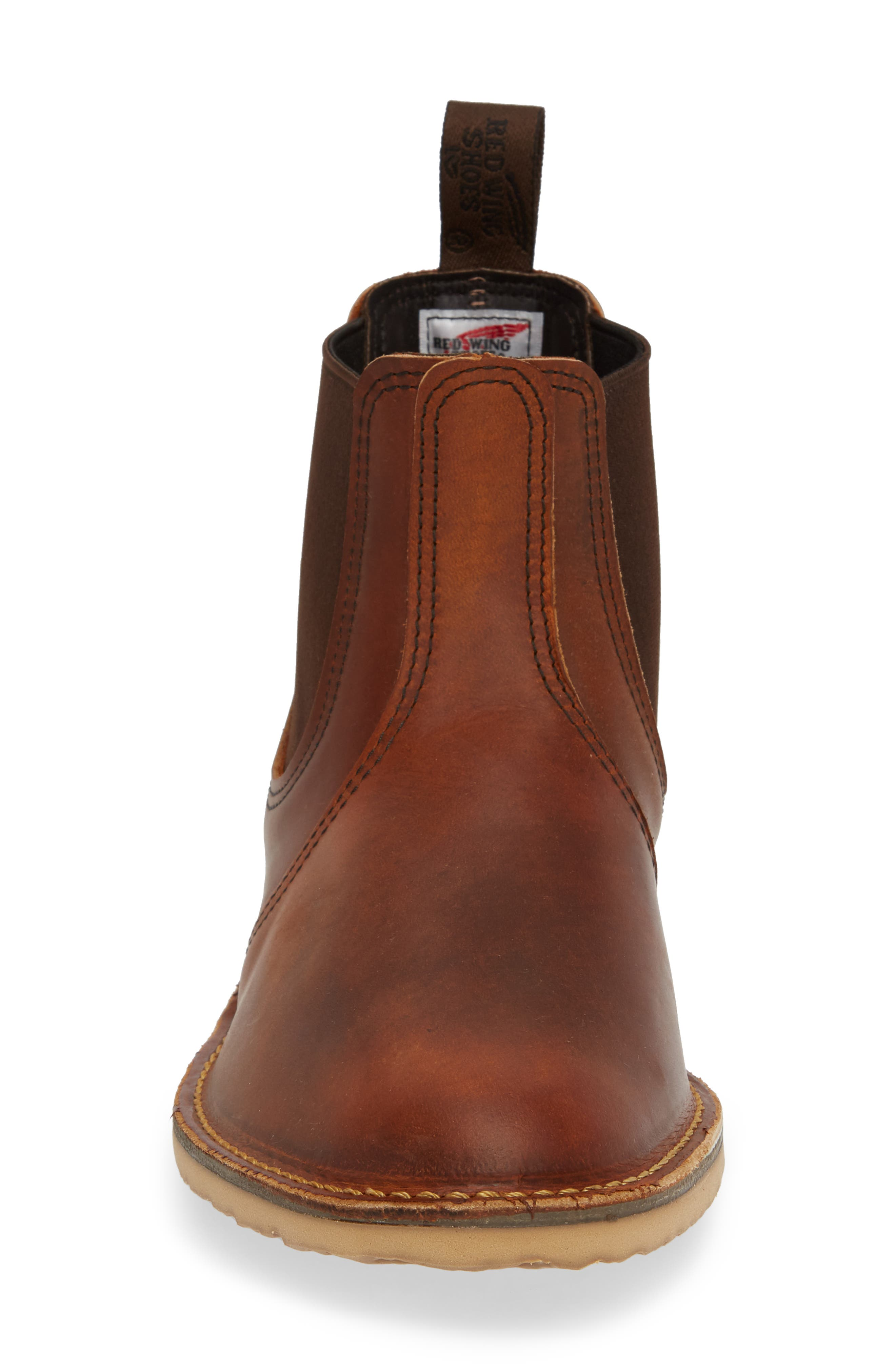 Chelsea Boot,                             Alternate thumbnail 4, color,                             COPPER LEATHER