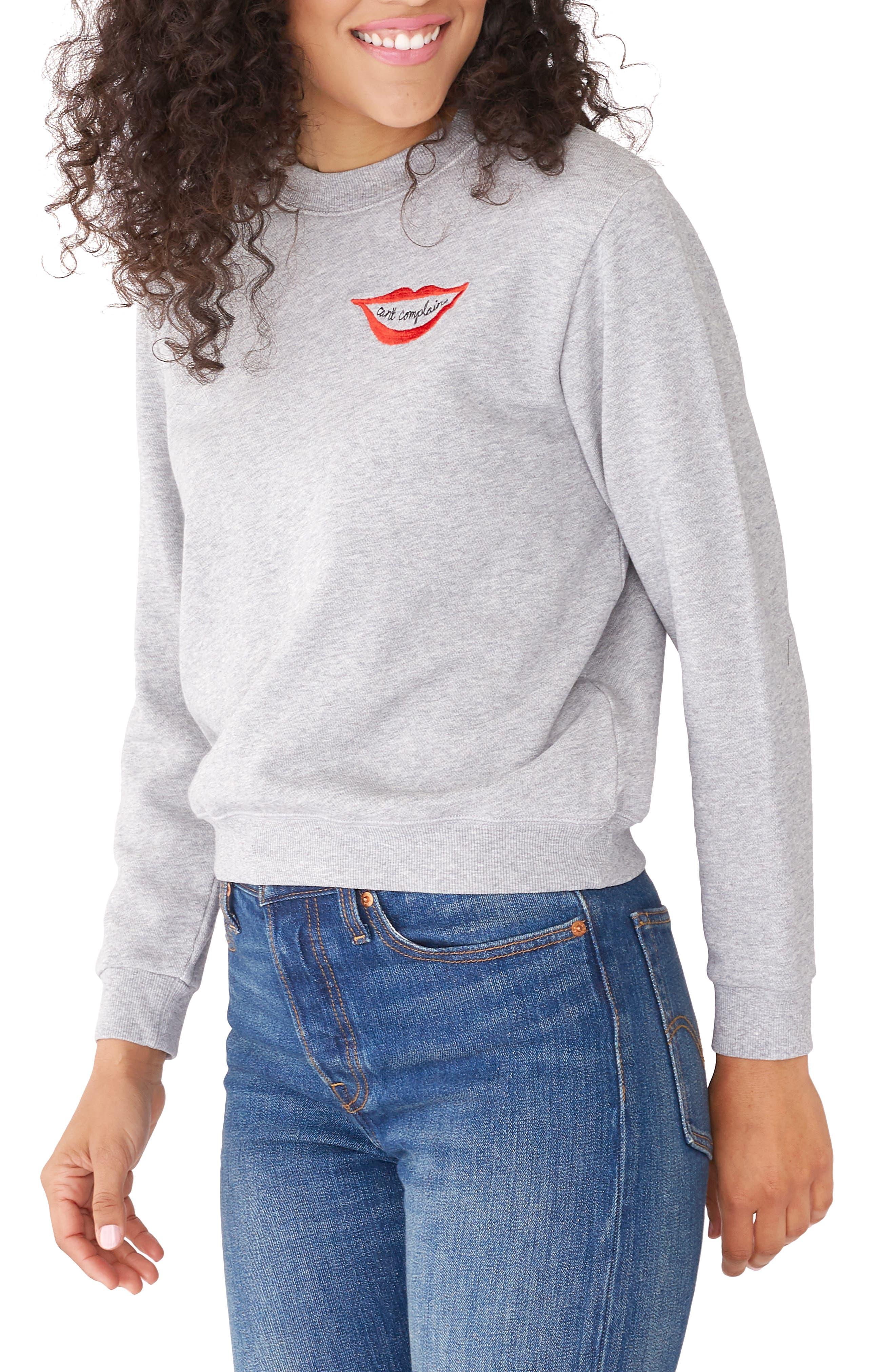 BAN.DO Can'T Complain Sweatshirt in Grey