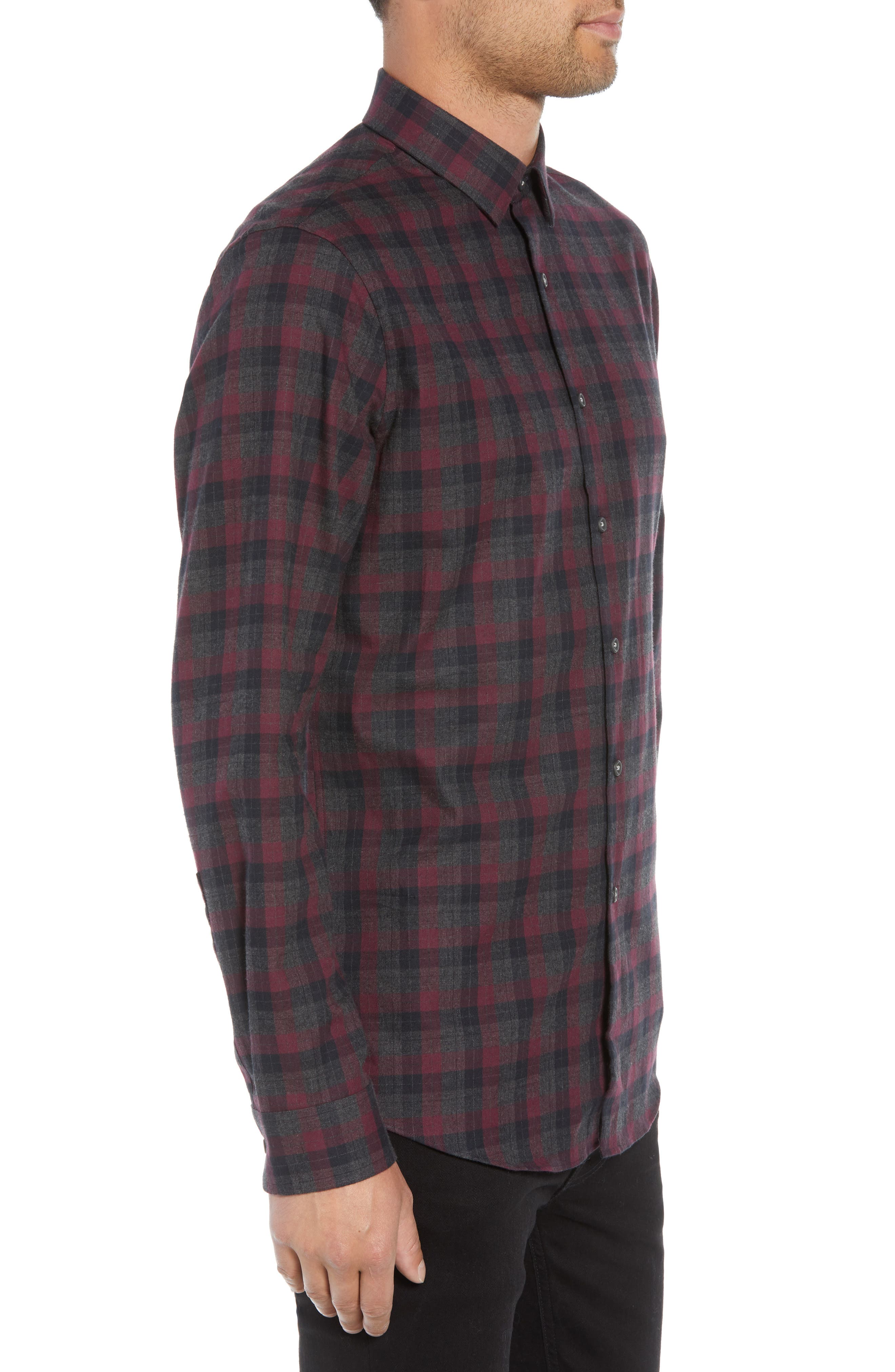 CALIBRATE,                             Check Flannel Shirt,                             Alternate thumbnail 3, color,                             050