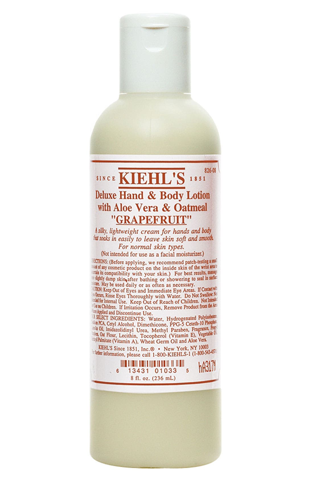 KIEHL'S SINCE 1851,                             Grapefruit Deluxe Hand & Body Lotion with Aloe Vera & Oatmeal,                             Alternate thumbnail 2, color,                             GRAPEFRUIT