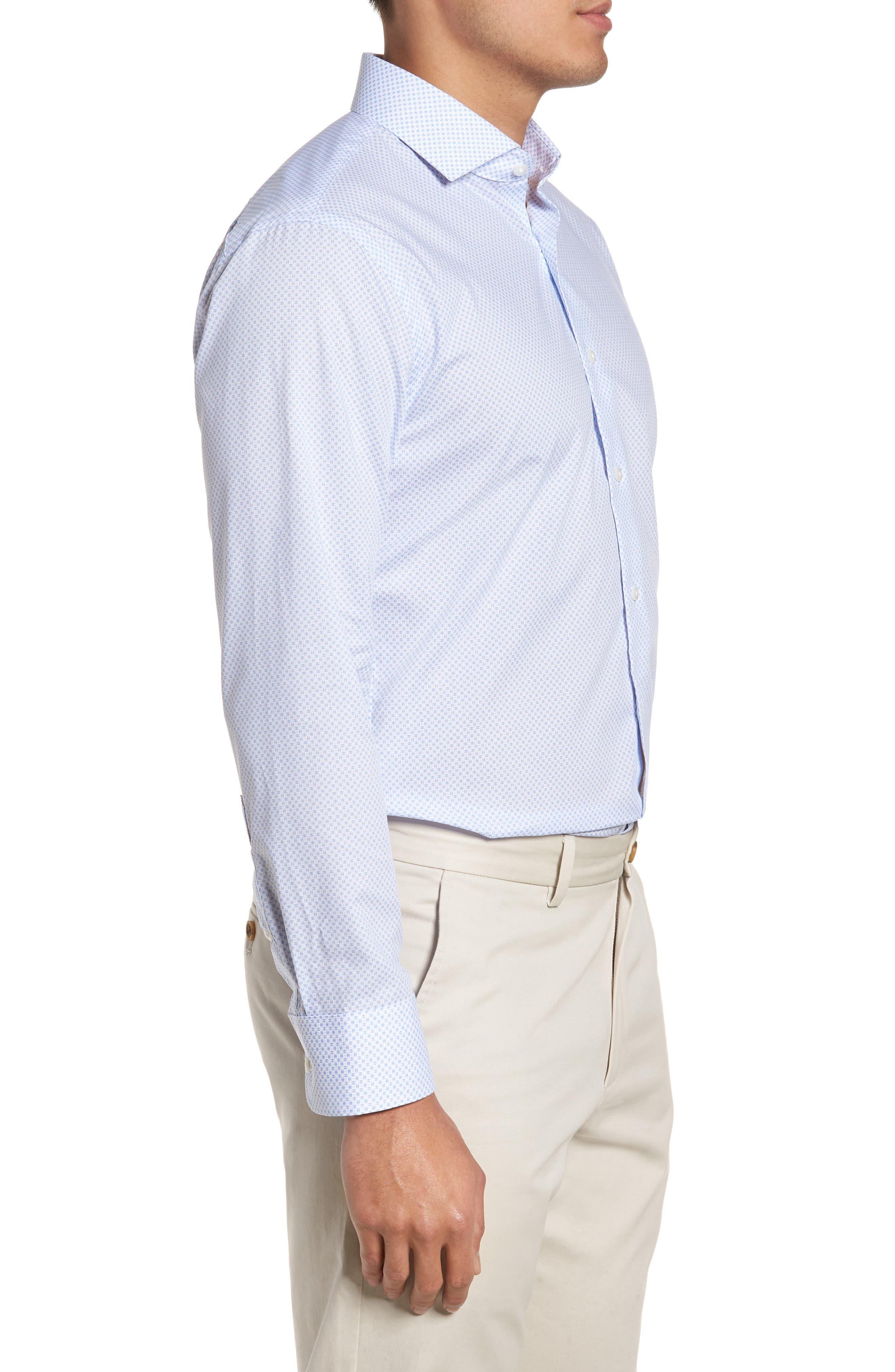 Trim Fit Dress Shirt,                             Alternate thumbnail 4, color,                             100