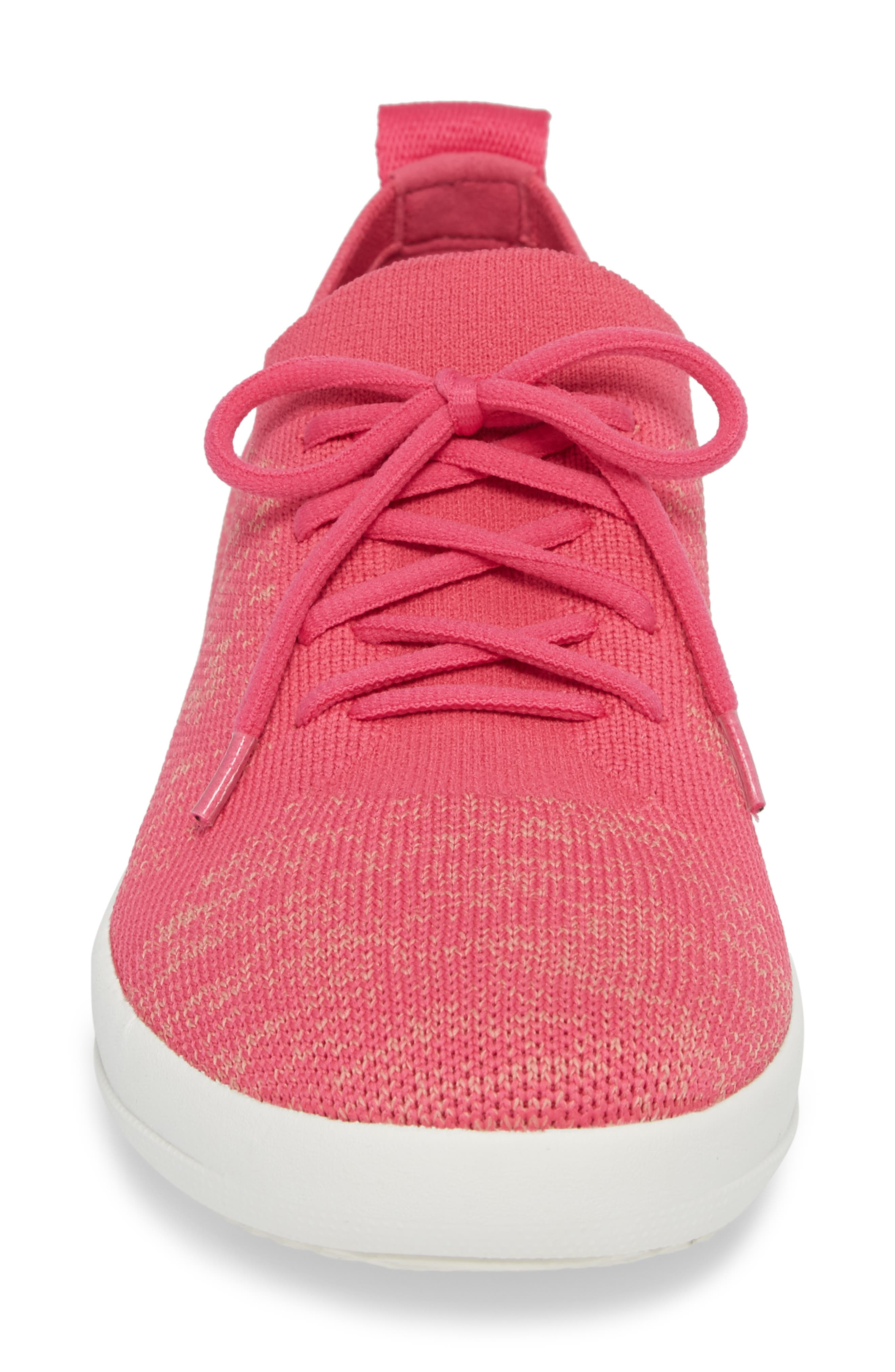 F-Sporty Uberknit<sup>™</sup> Sneaker,                             Alternate thumbnail 4, color,                             FUCHSIA/ DUSTY PINK