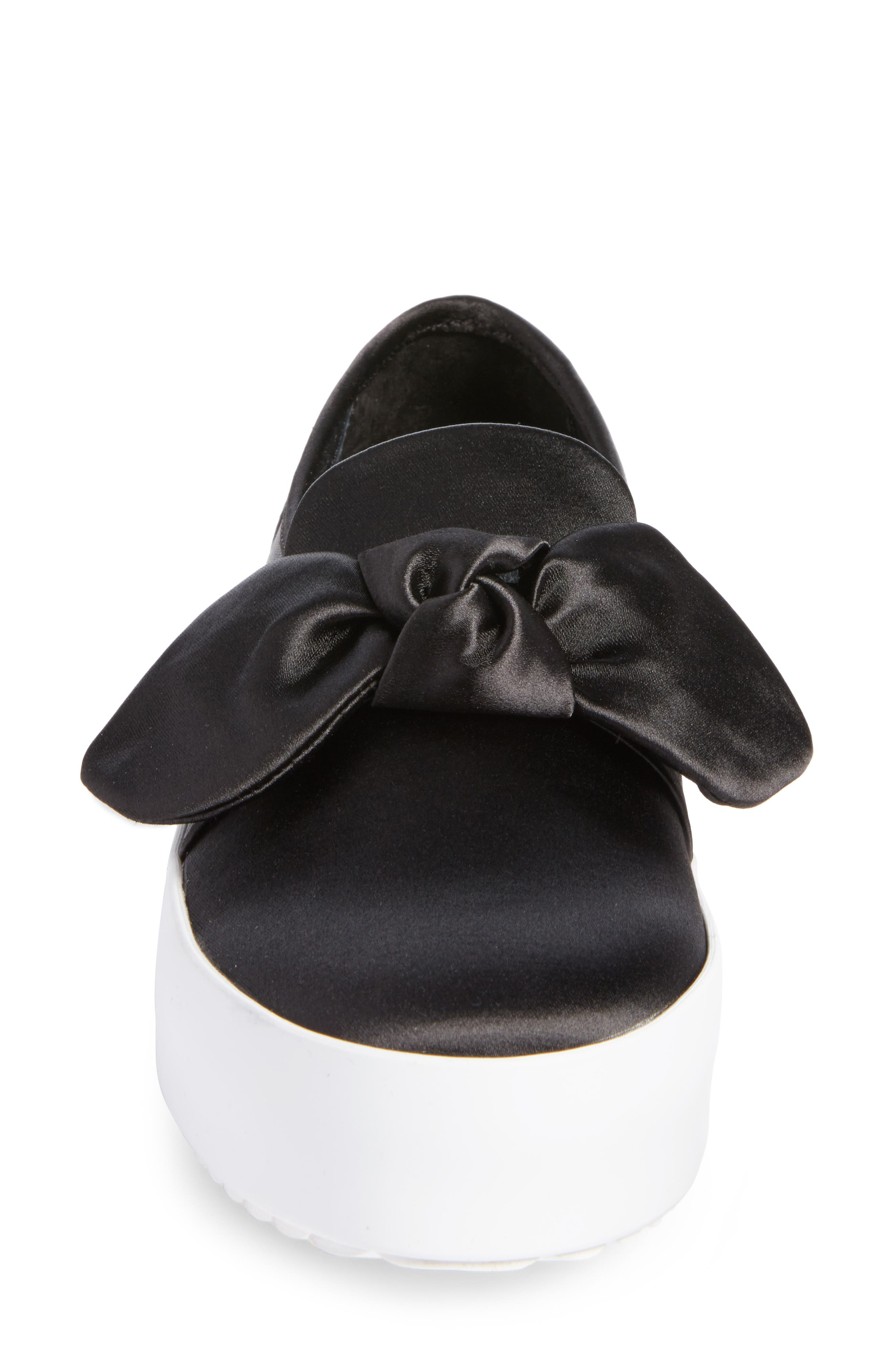 Stacey Bow Platform Sneaker,                             Alternate thumbnail 4, color,                             002