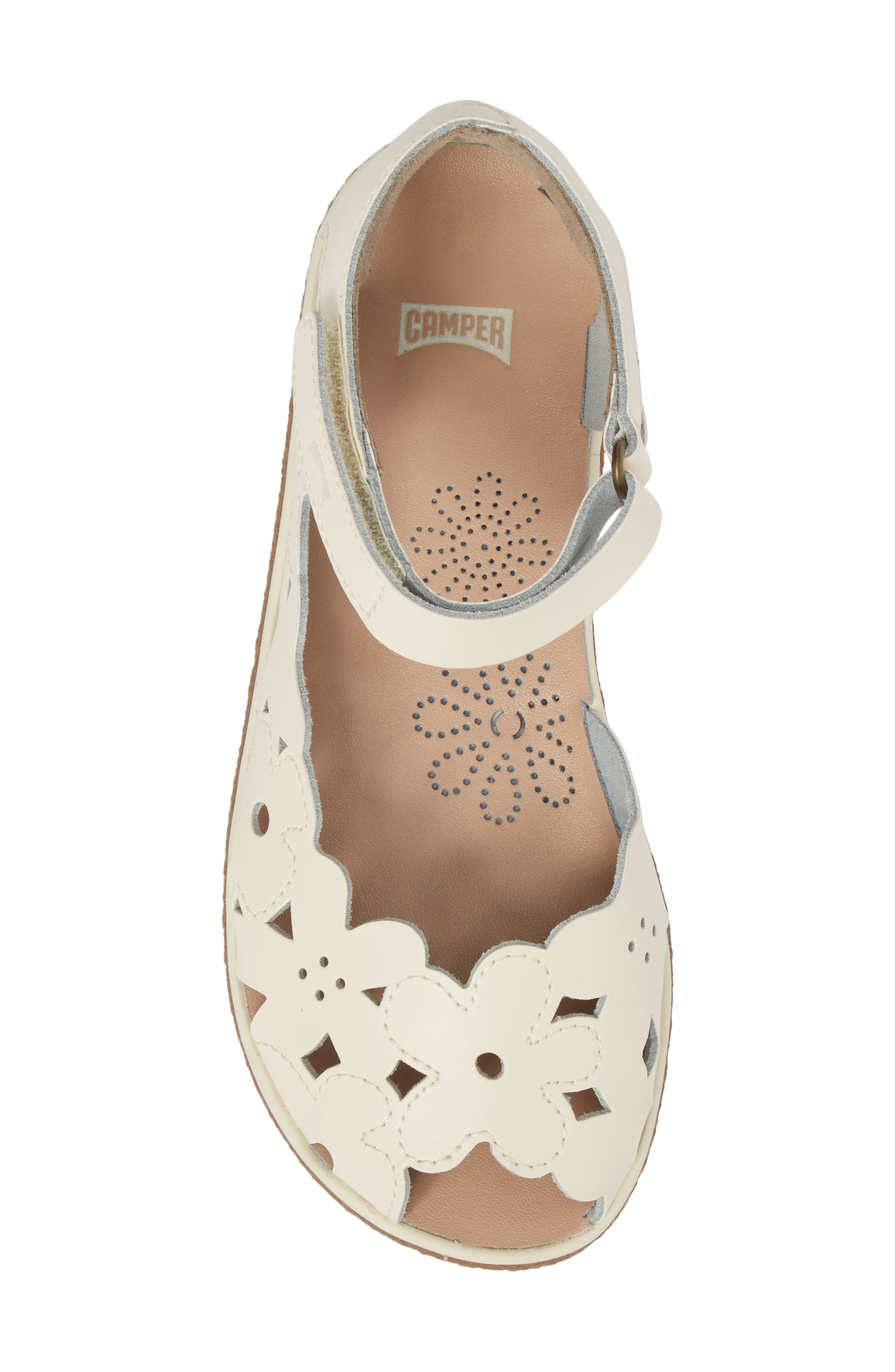 Twins Perforated Sandal,                             Alternate thumbnail 5, color,                             WHITE