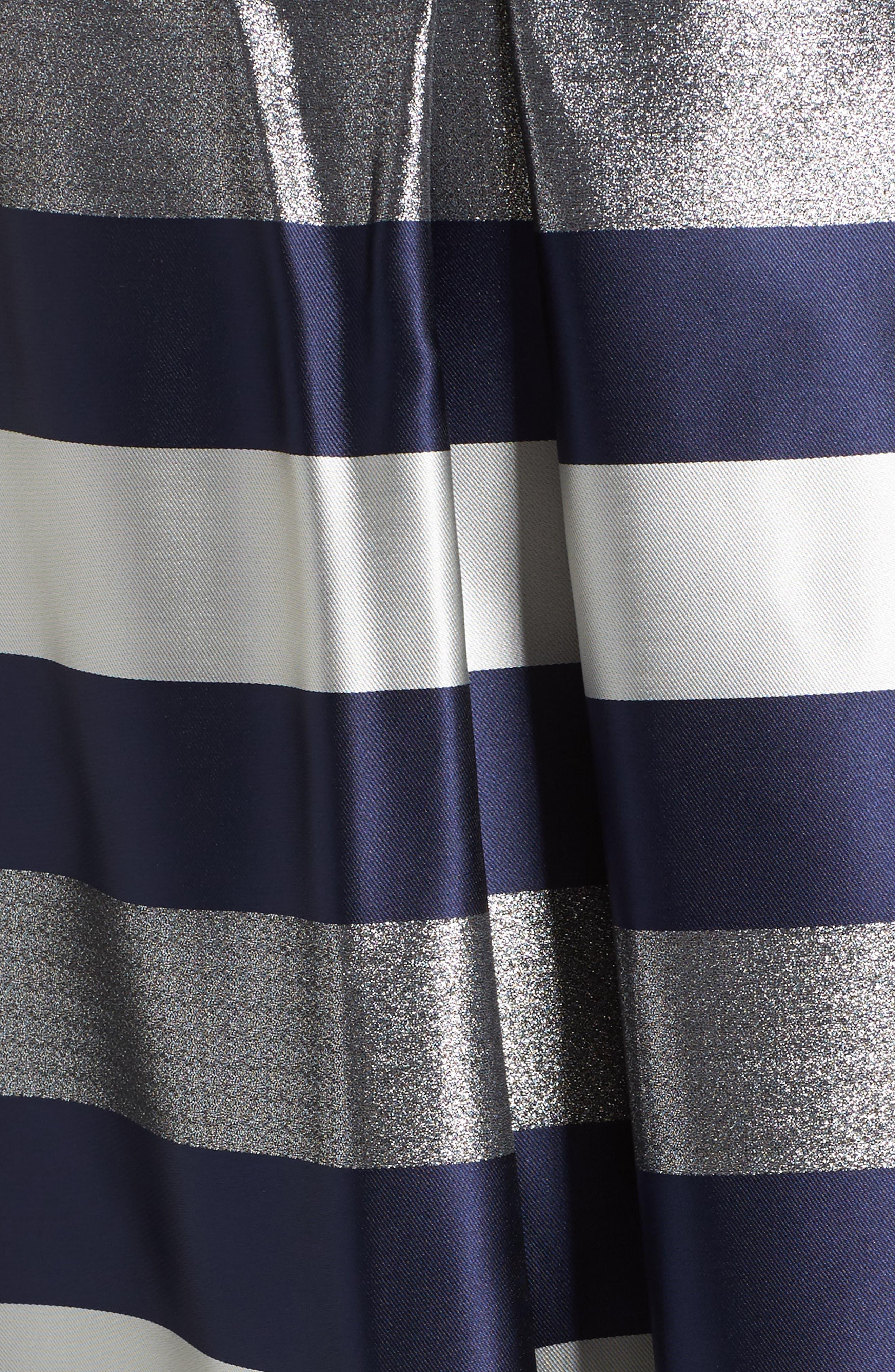 Mixed Media Fit & Flare Dress,                             Alternate thumbnail 5, color,                             473