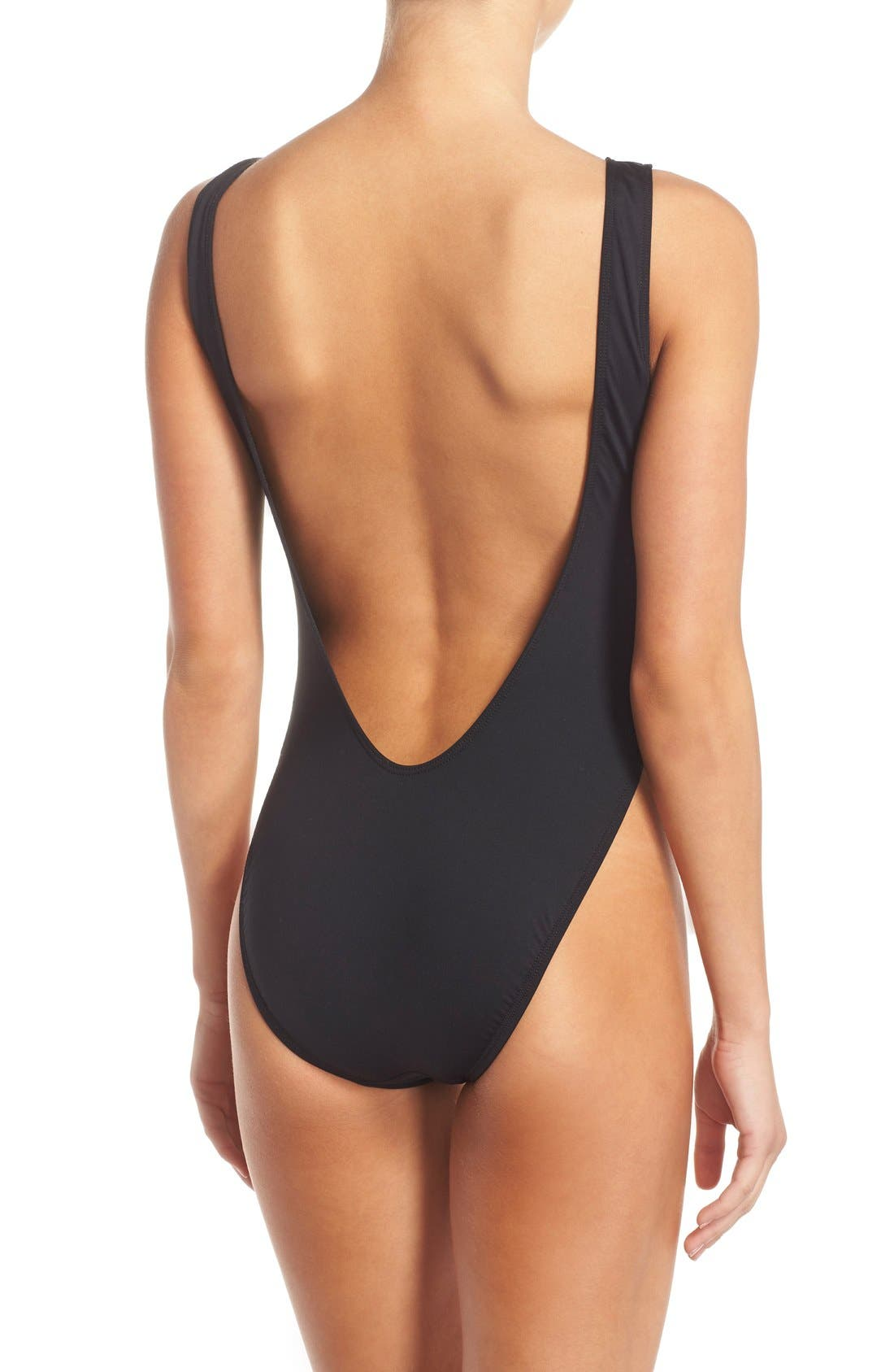 'Born Free' Graphic One-Piece Swimsuit,                             Alternate thumbnail 2, color,                             001