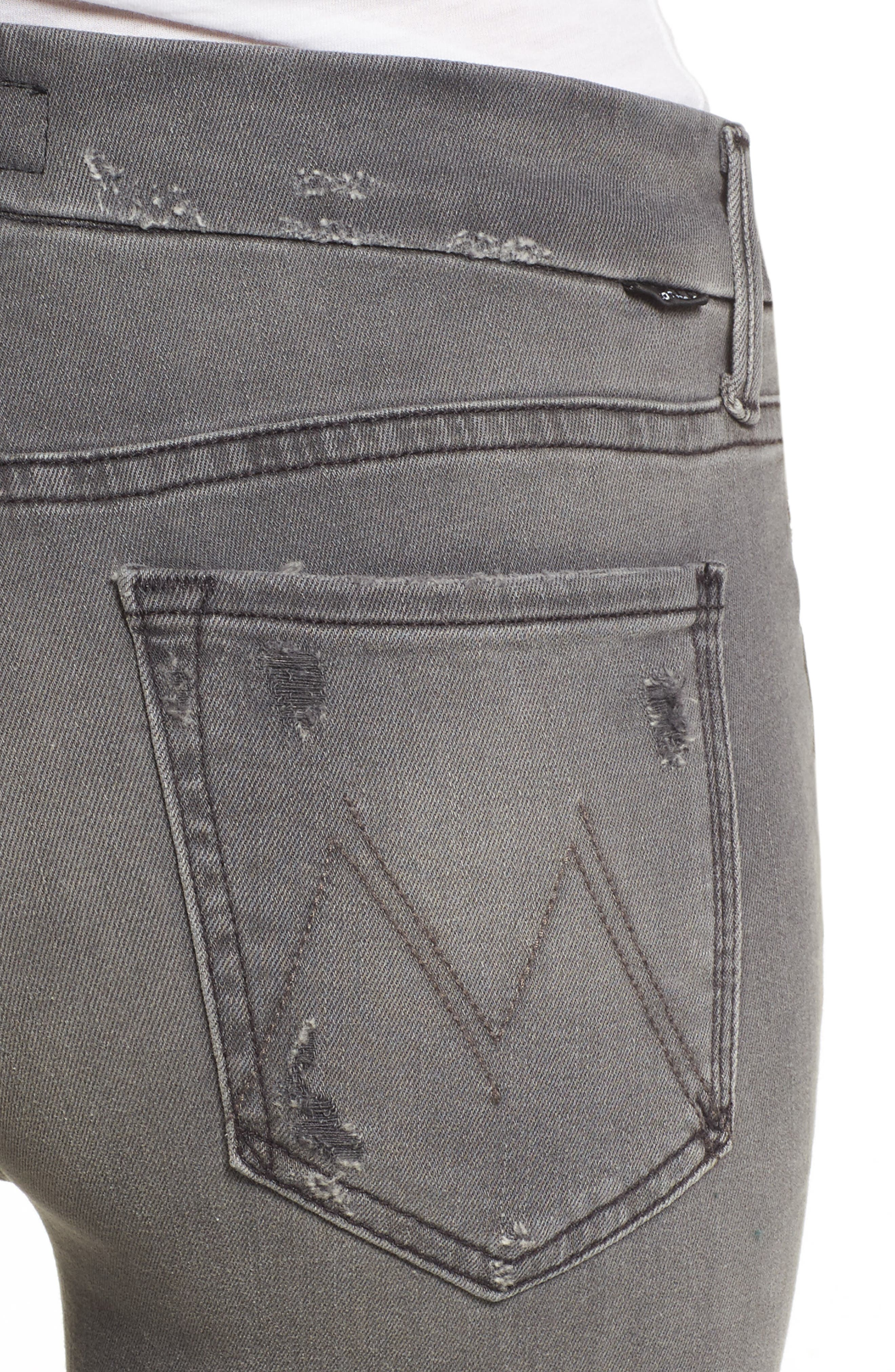 Frayed Ankle Jeans,                             Alternate thumbnail 4, color,                             020