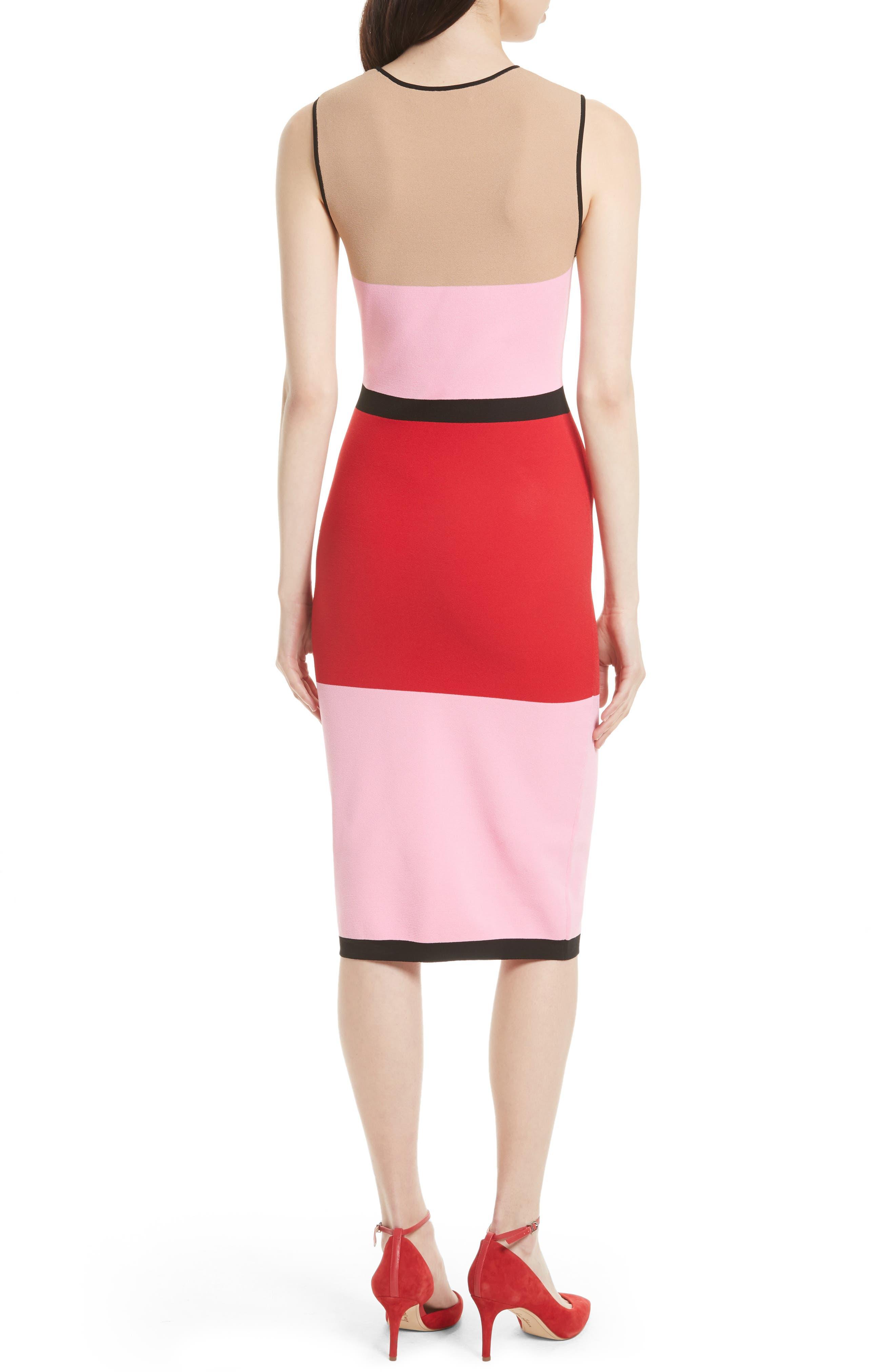 Colorblock Knit Dress,                             Alternate thumbnail 2, color,                             643