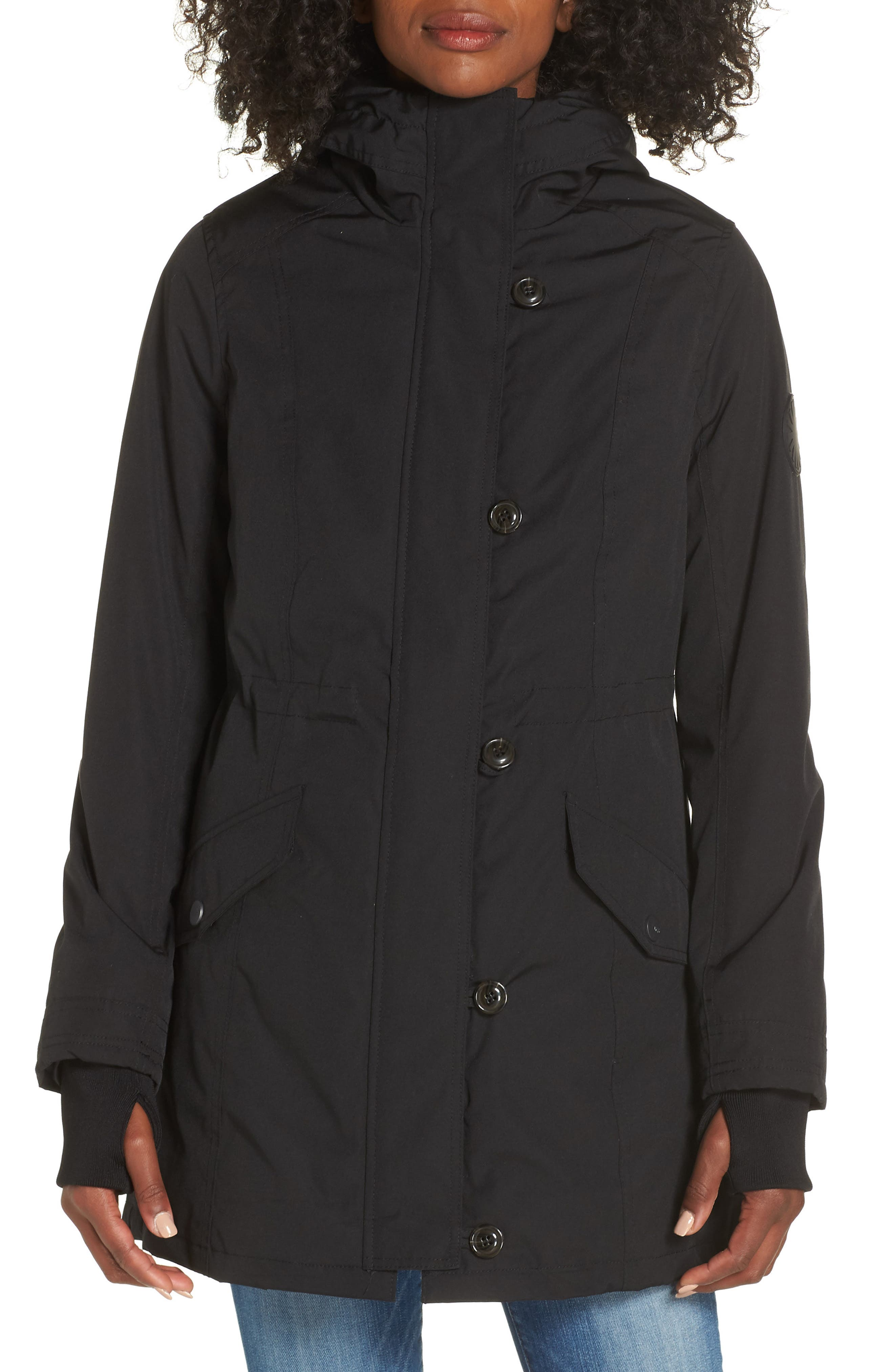 Adirondack Down Parka,                             Alternate thumbnail 9, color,                             BLACK