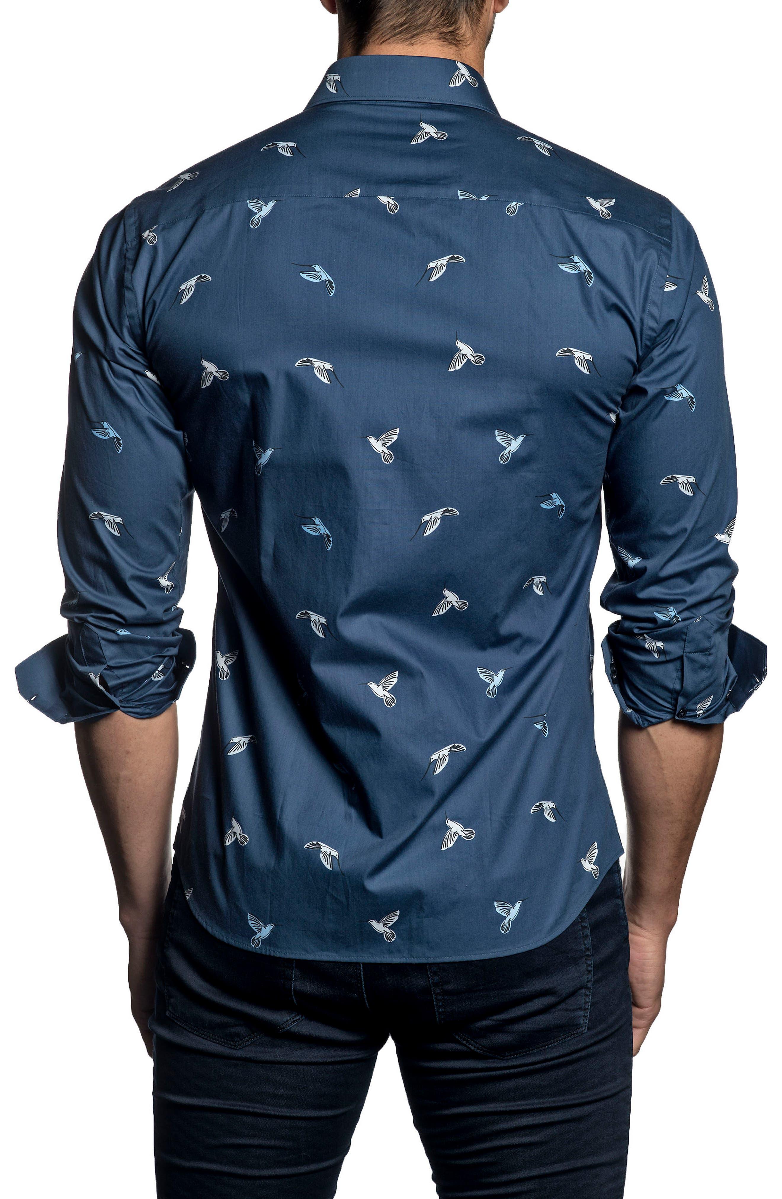 Trim Fit Print Sport Shirt,                             Alternate thumbnail 2, color,                             408