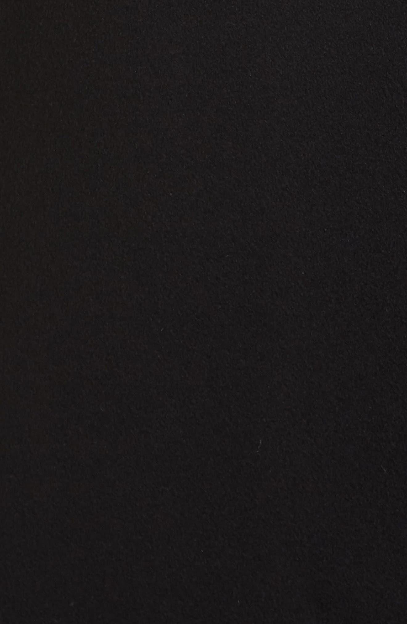 FLEURETTE,                             Maxi Reefer Wool Coat,                             Alternate thumbnail 7, color,                             BLACK