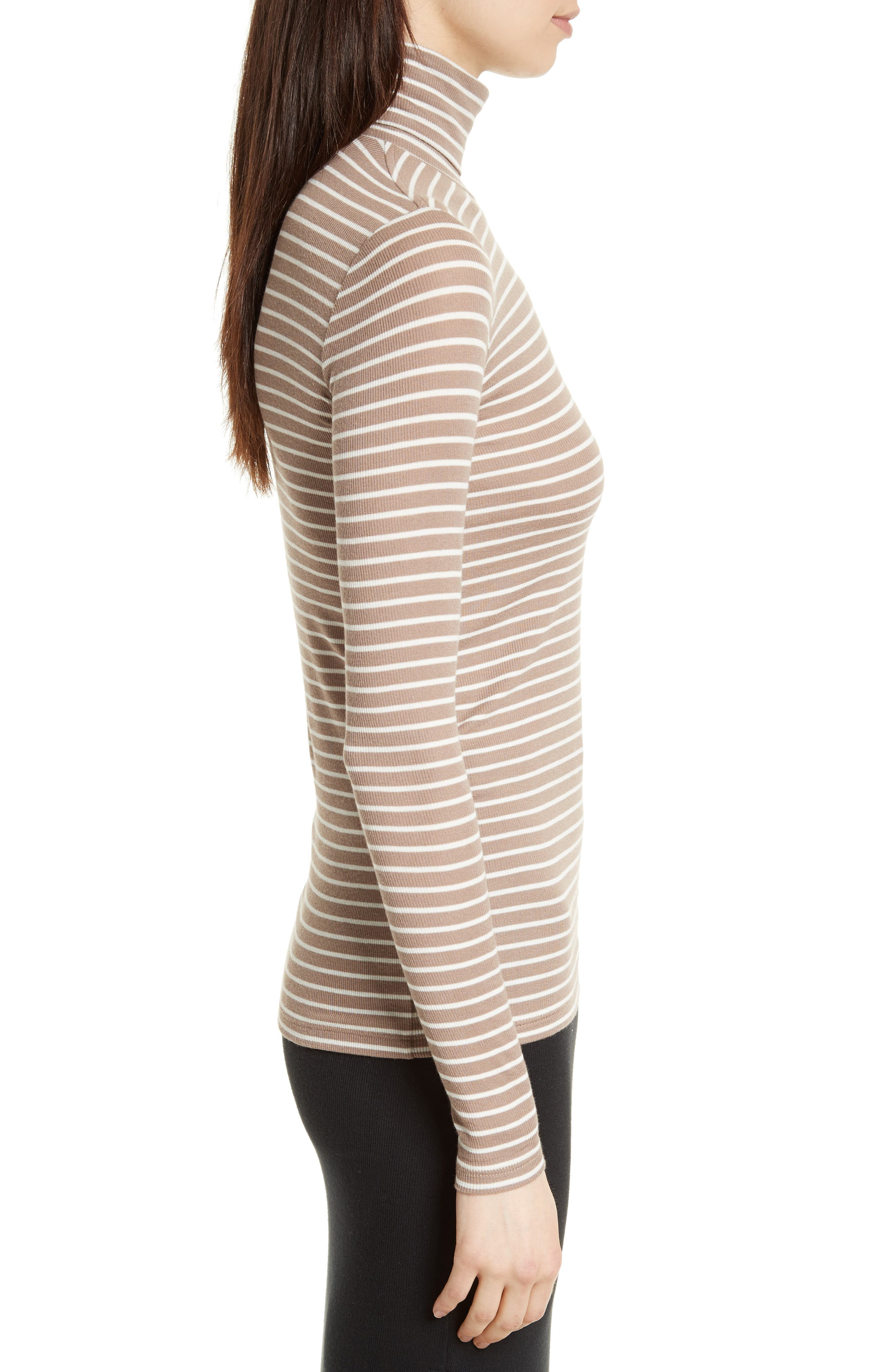 Mock Neck Ribbed Jersey Top,                             Alternate thumbnail 3, color,                             251