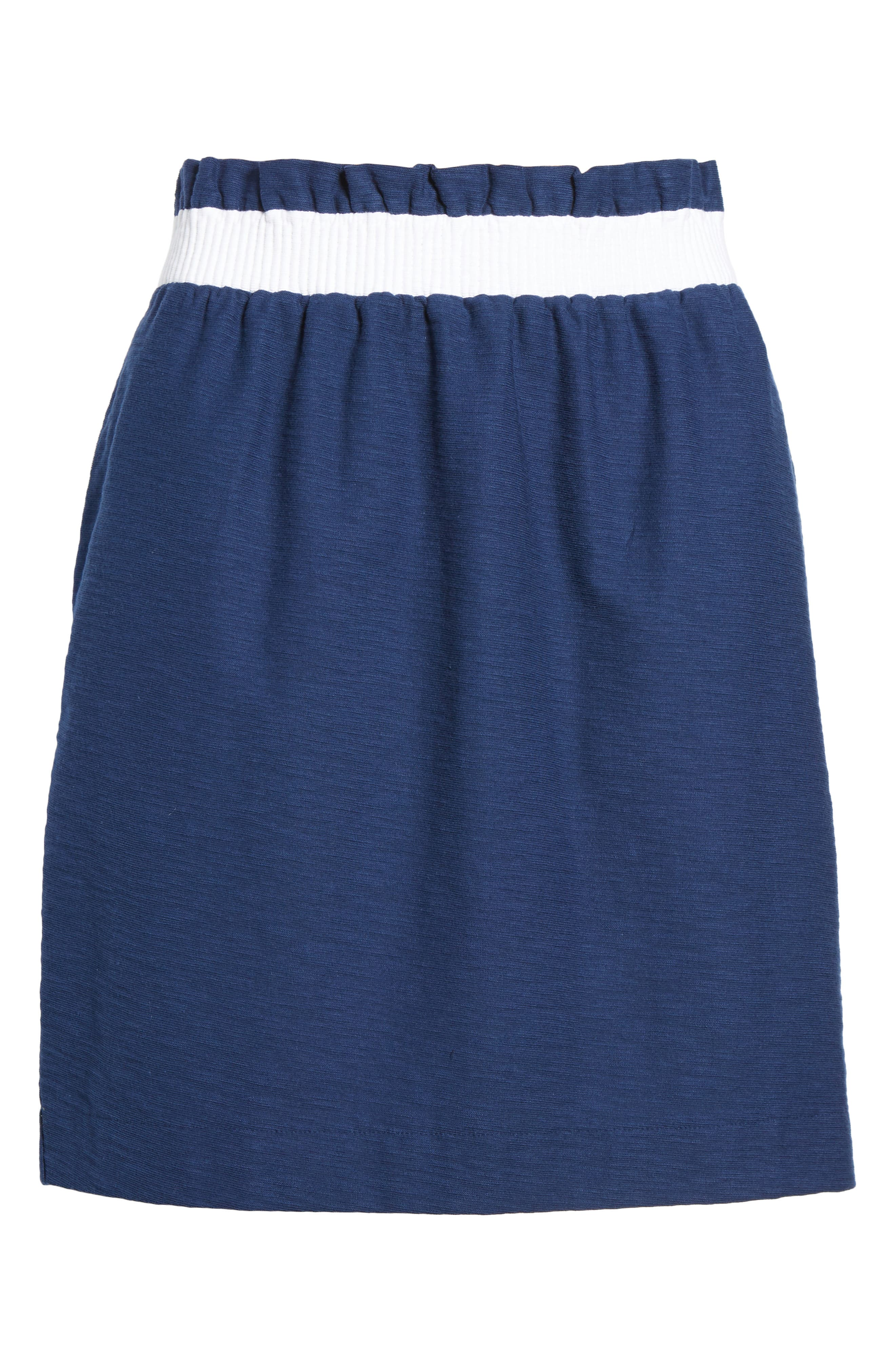 Waistband Stripe Pull On Skirt,                             Alternate thumbnail 6, color,                             476