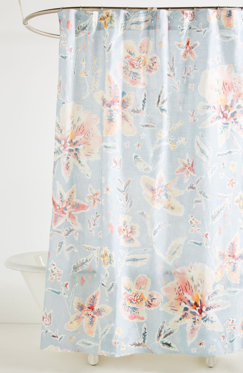 ANTHROPOLOGIE Winslow Shower Curtain Main Color 400