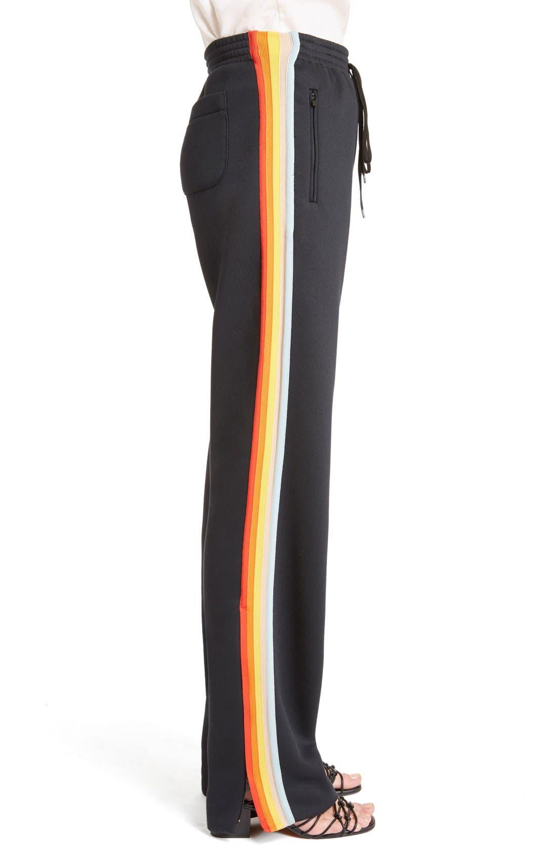 Rainbow Stripe Track Pants,                             Alternate thumbnail 6, color,                             001