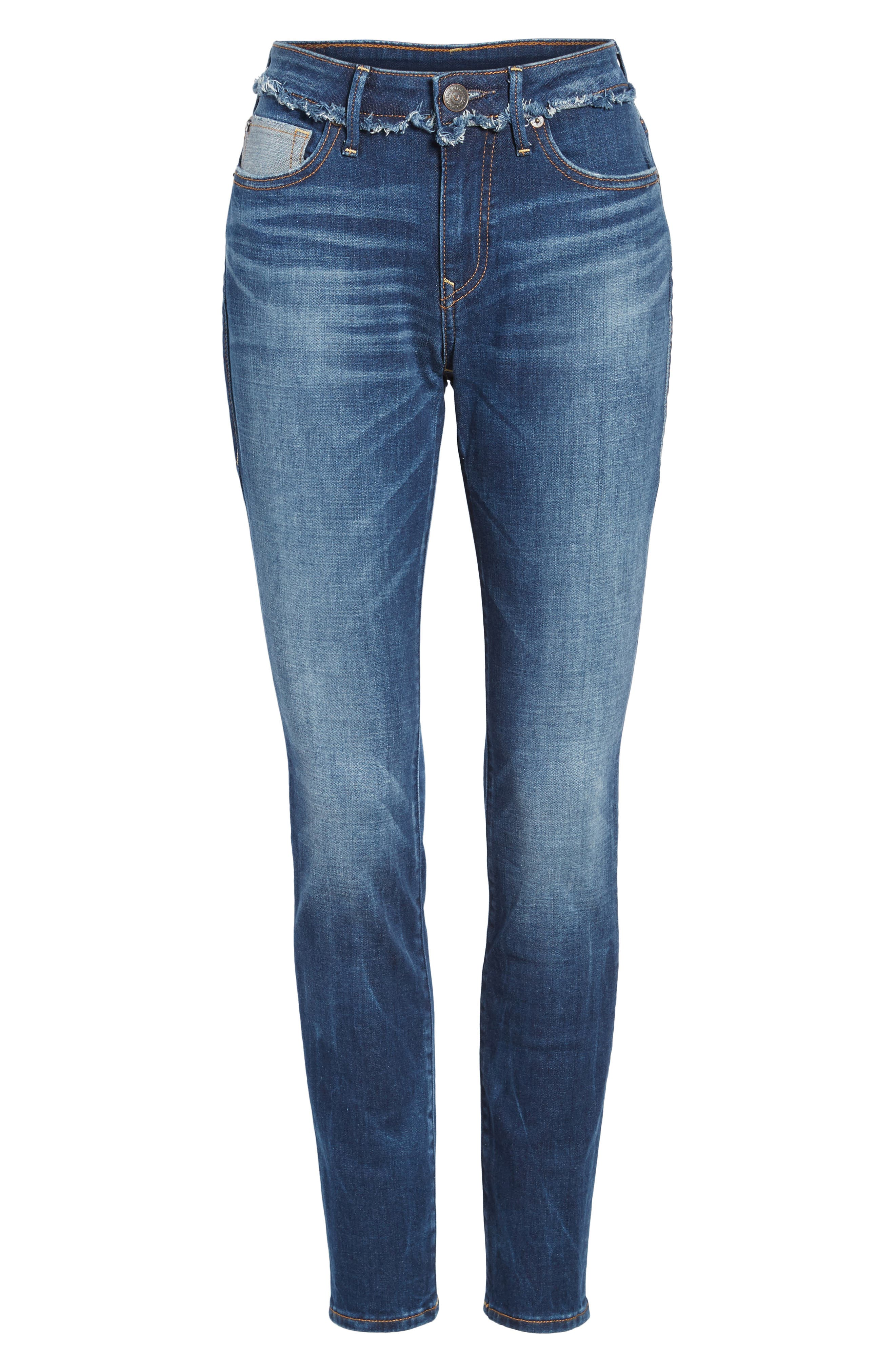 Jennie Deconstructed Skinny Jeans,                             Alternate thumbnail 6, color,                             401