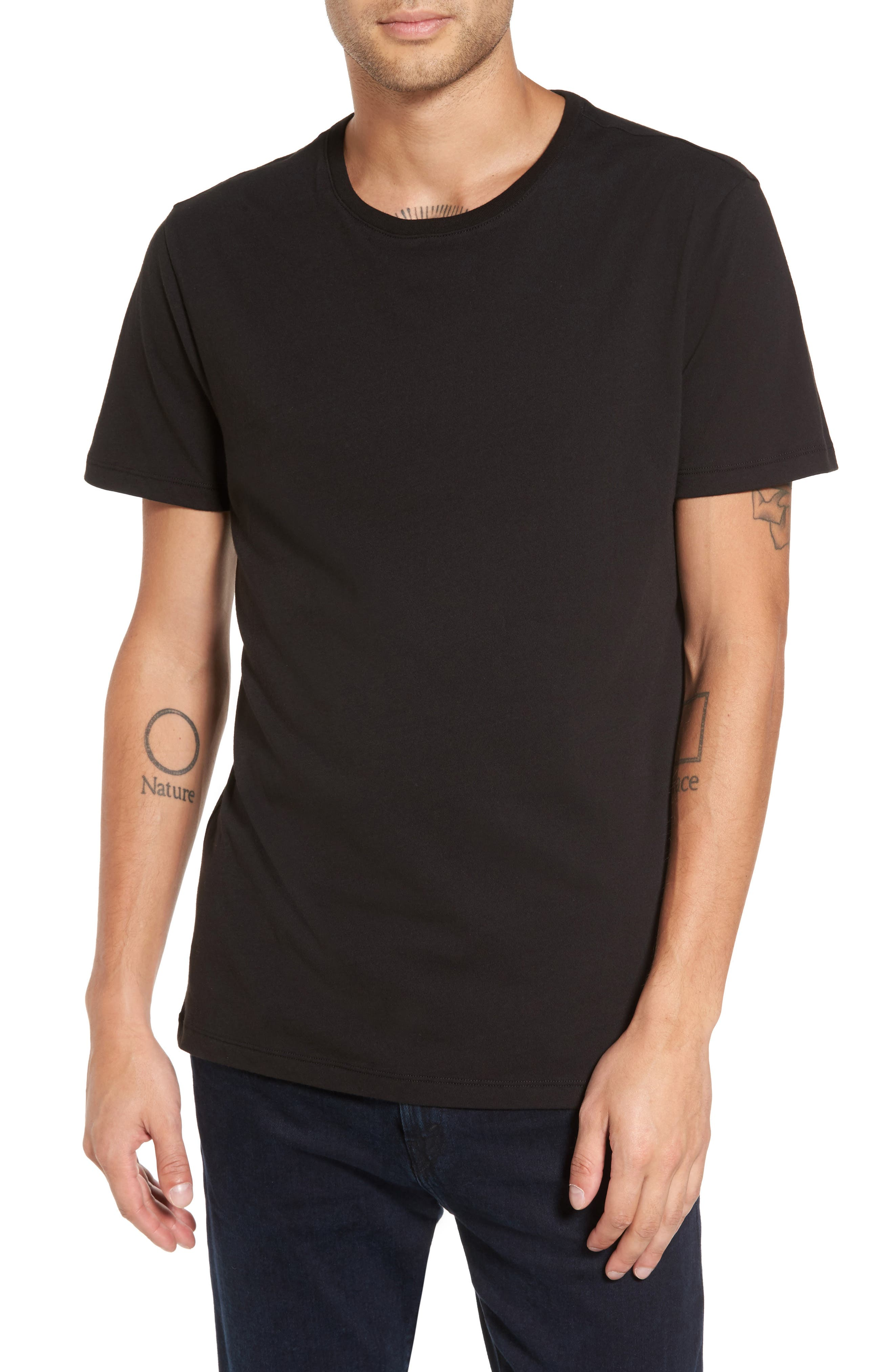 Solid T-Shirt, Main, color, 001