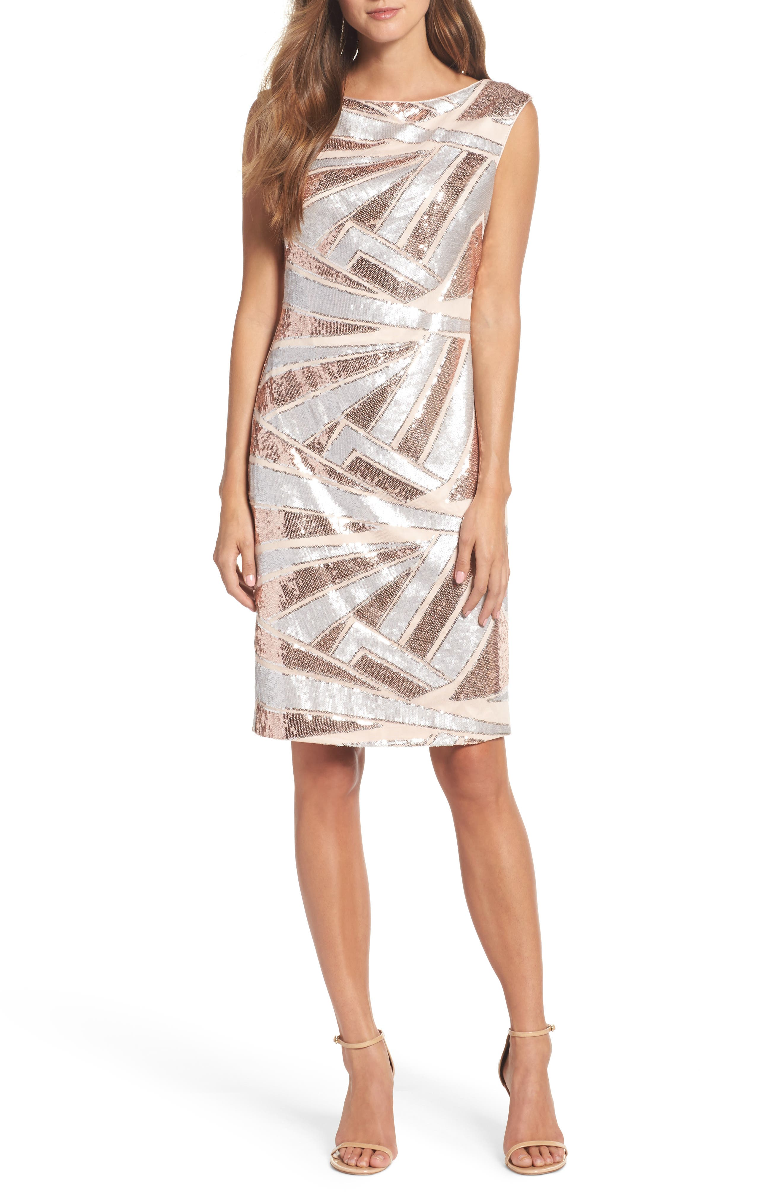 Sequin Body-Con Dress,                         Main,                         color,