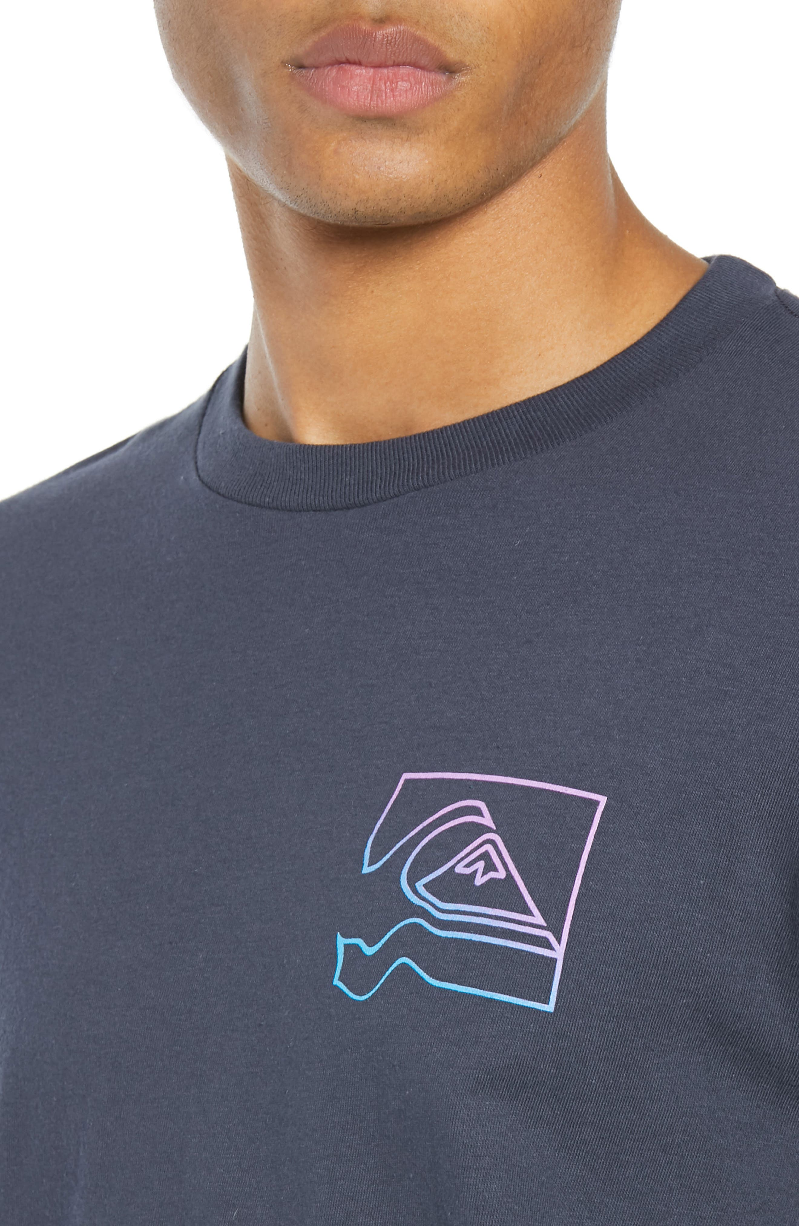 Distortion T-Shirt,                             Alternate thumbnail 4, color,                             BLUE NIGHTS