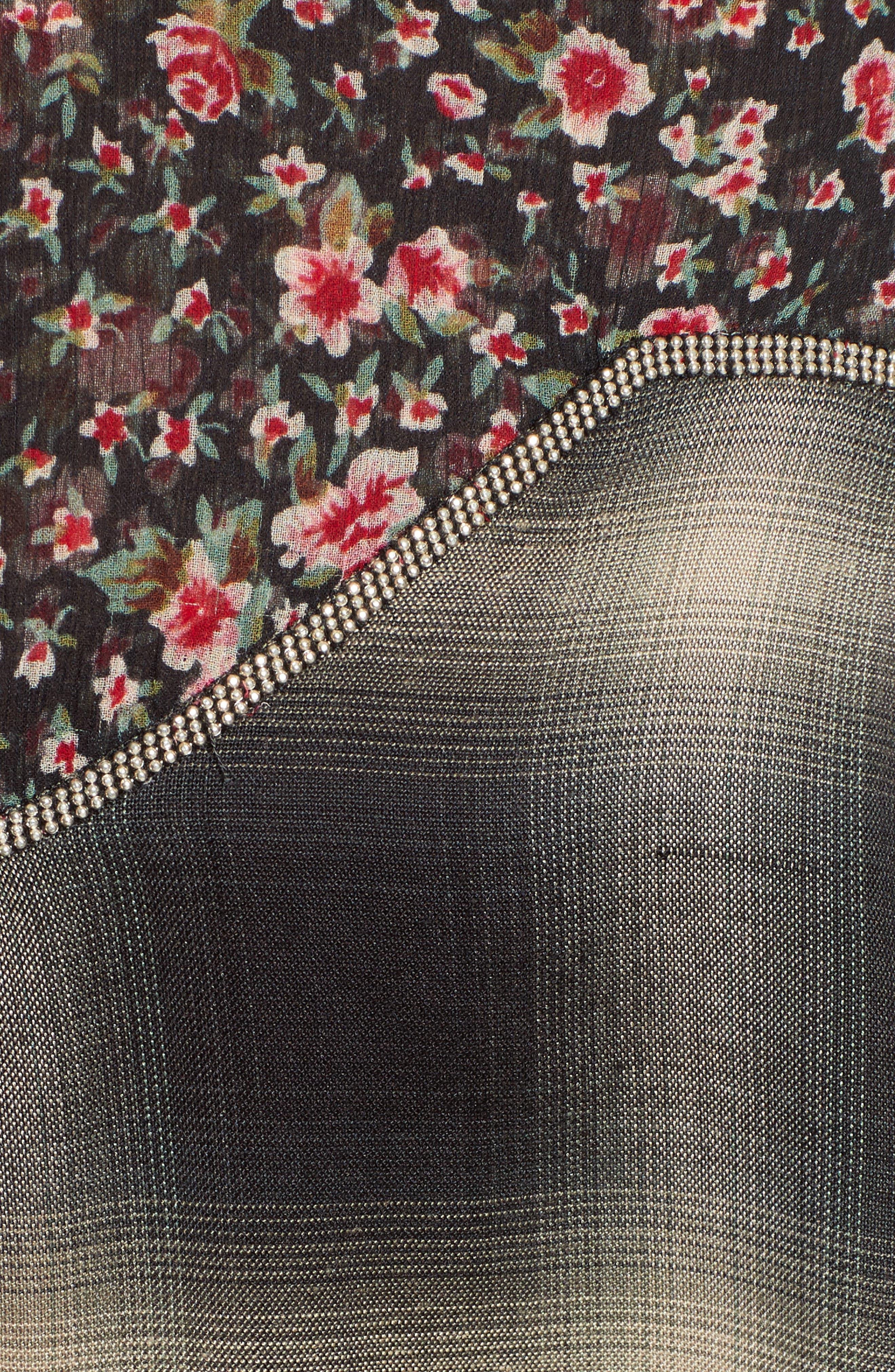 James Floral Print Western Shirt,                             Alternate thumbnail 5, color,                             001
