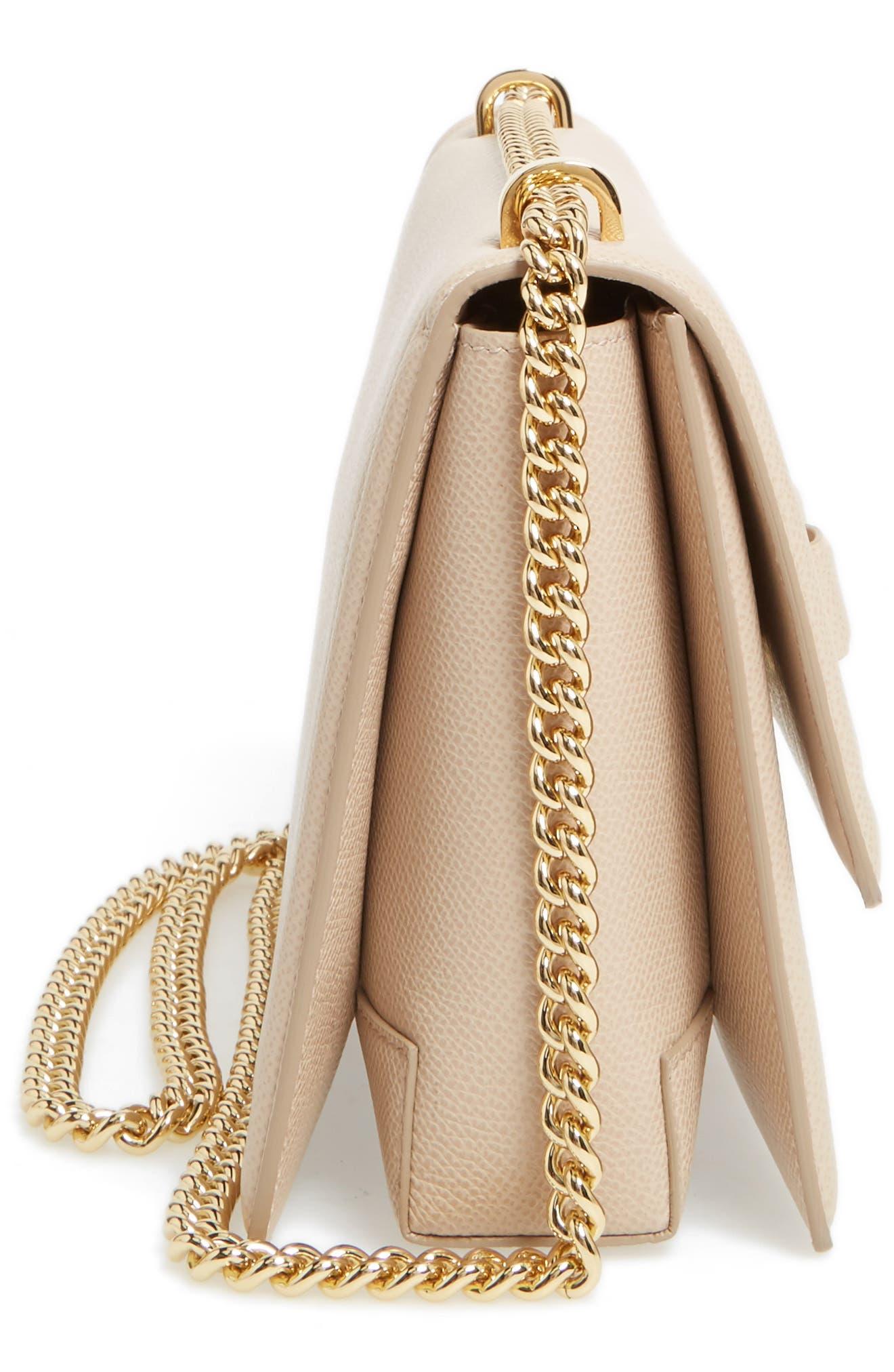 Medium Leather Shoulder Bag,                             Alternate thumbnail 5, color,