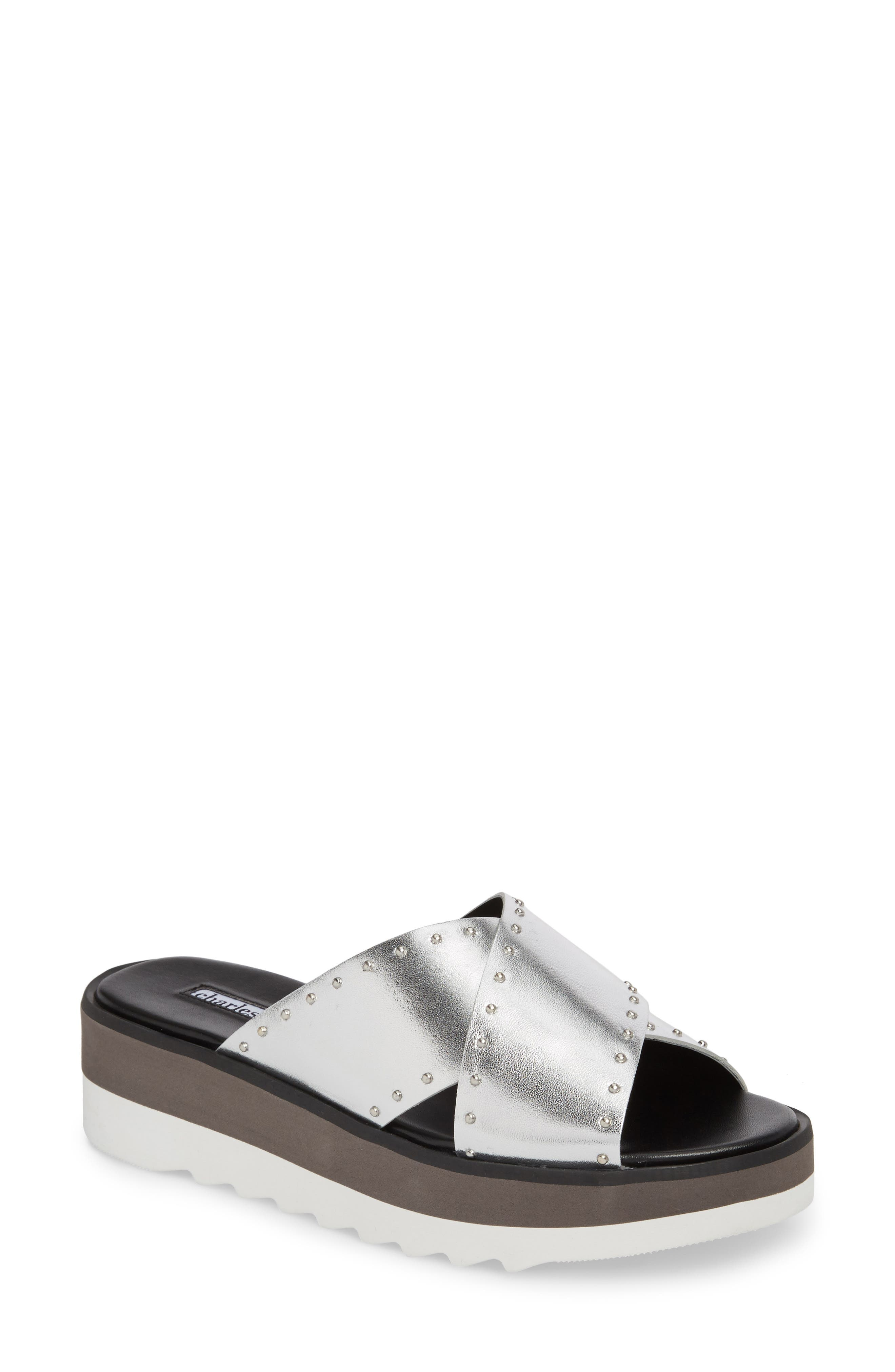 Charles David Buxom Sandal- Metallic