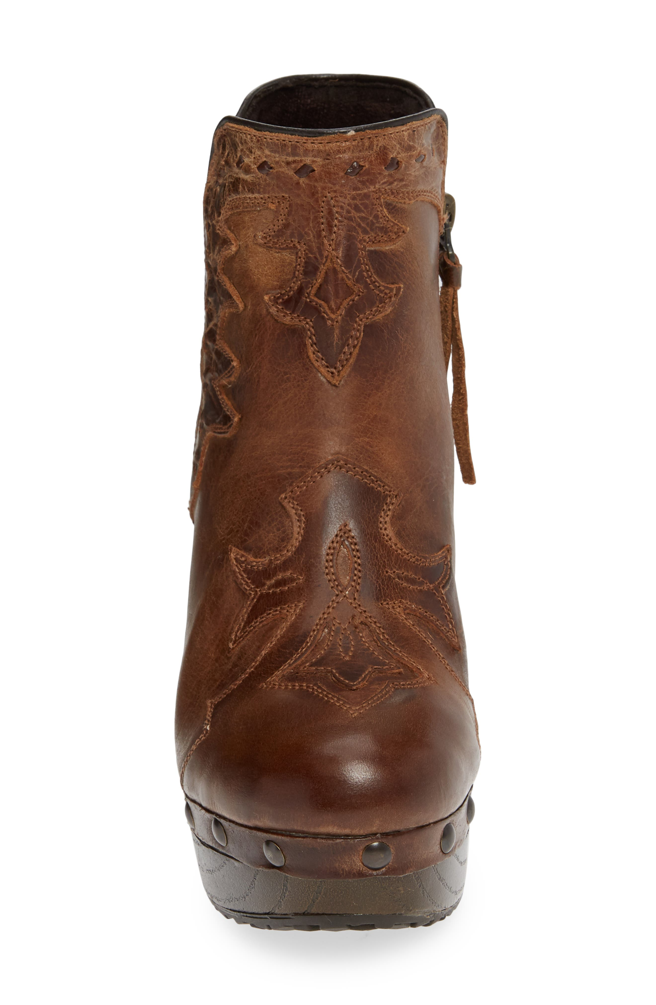 Music City Bootie,                             Alternate thumbnail 4, color,                             CRACKLED TAN LEATHER