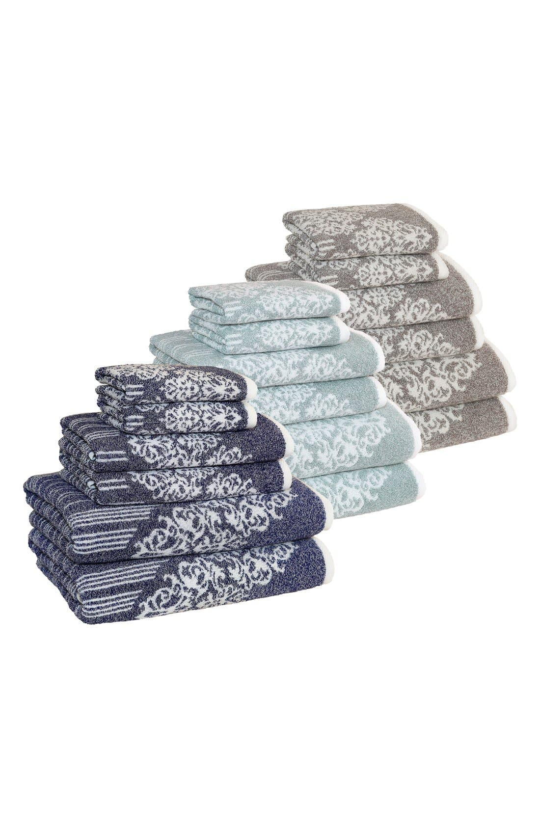Linum 'Gioia' Bath Towels, Hand Towels & Washcloths,                             Alternate thumbnail 4, color,                             440