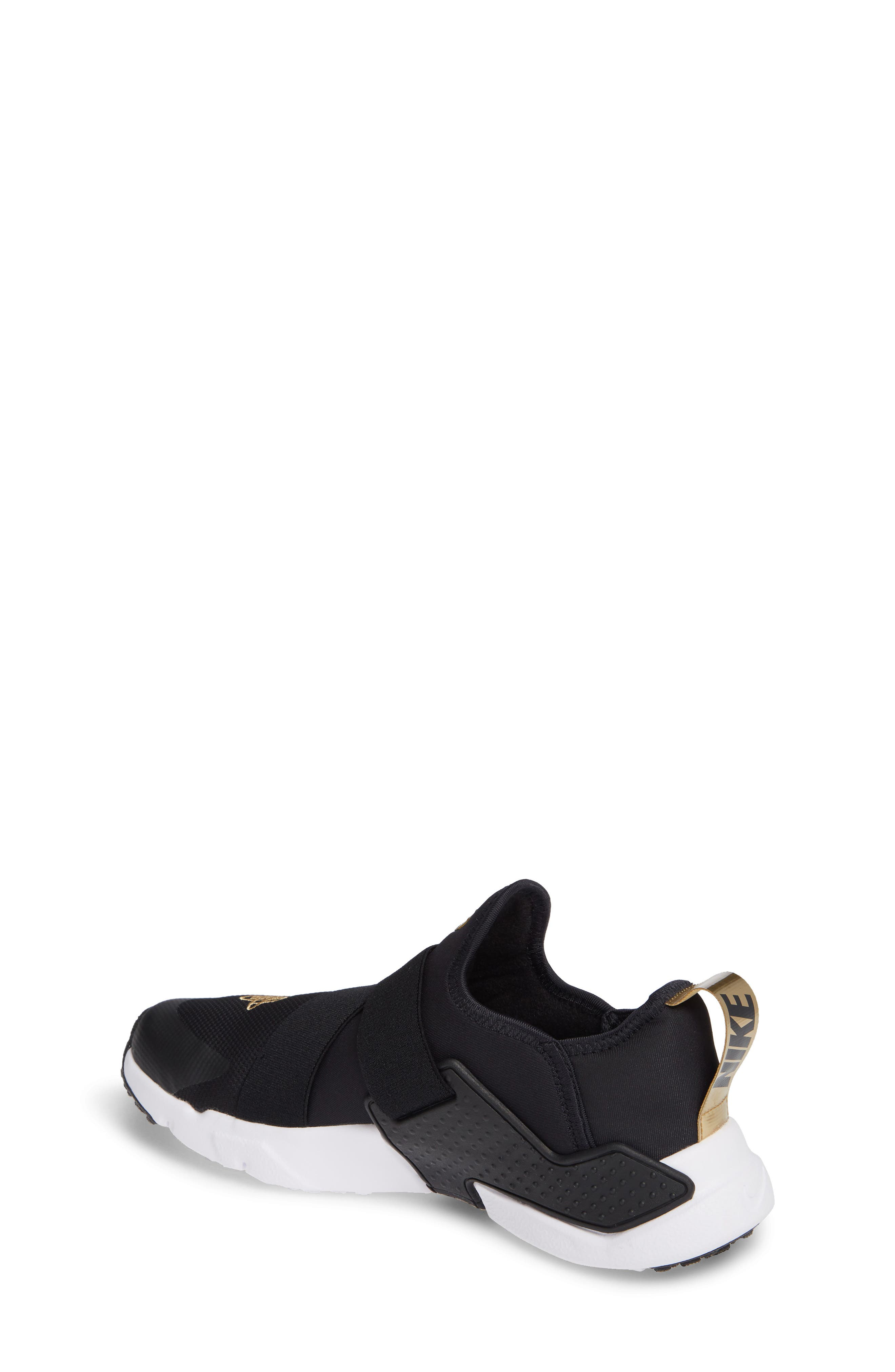 Huarache Extreme Sneaker,                             Alternate thumbnail 2, color,                             BLACK/ METALLIC GOLD/ WHITE