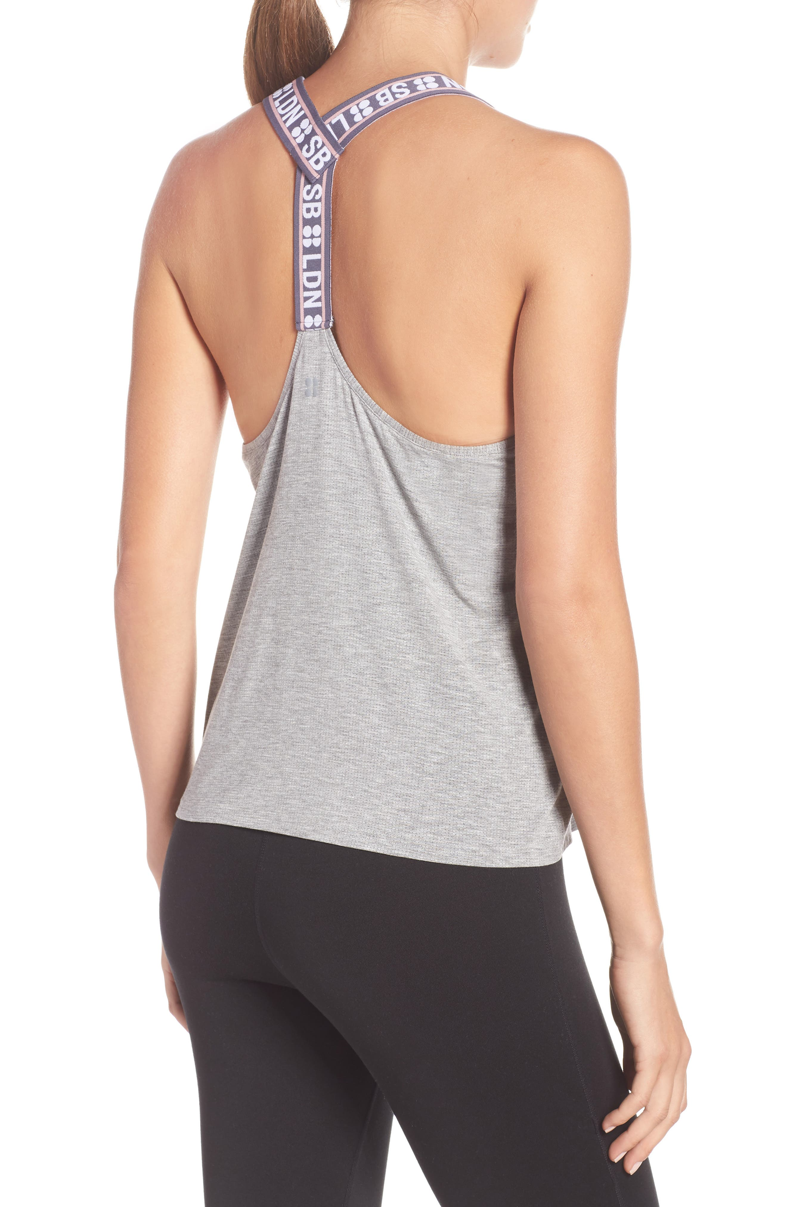 Workout Tank Top,                             Alternate thumbnail 2, color,                             SILVER GREY MARL