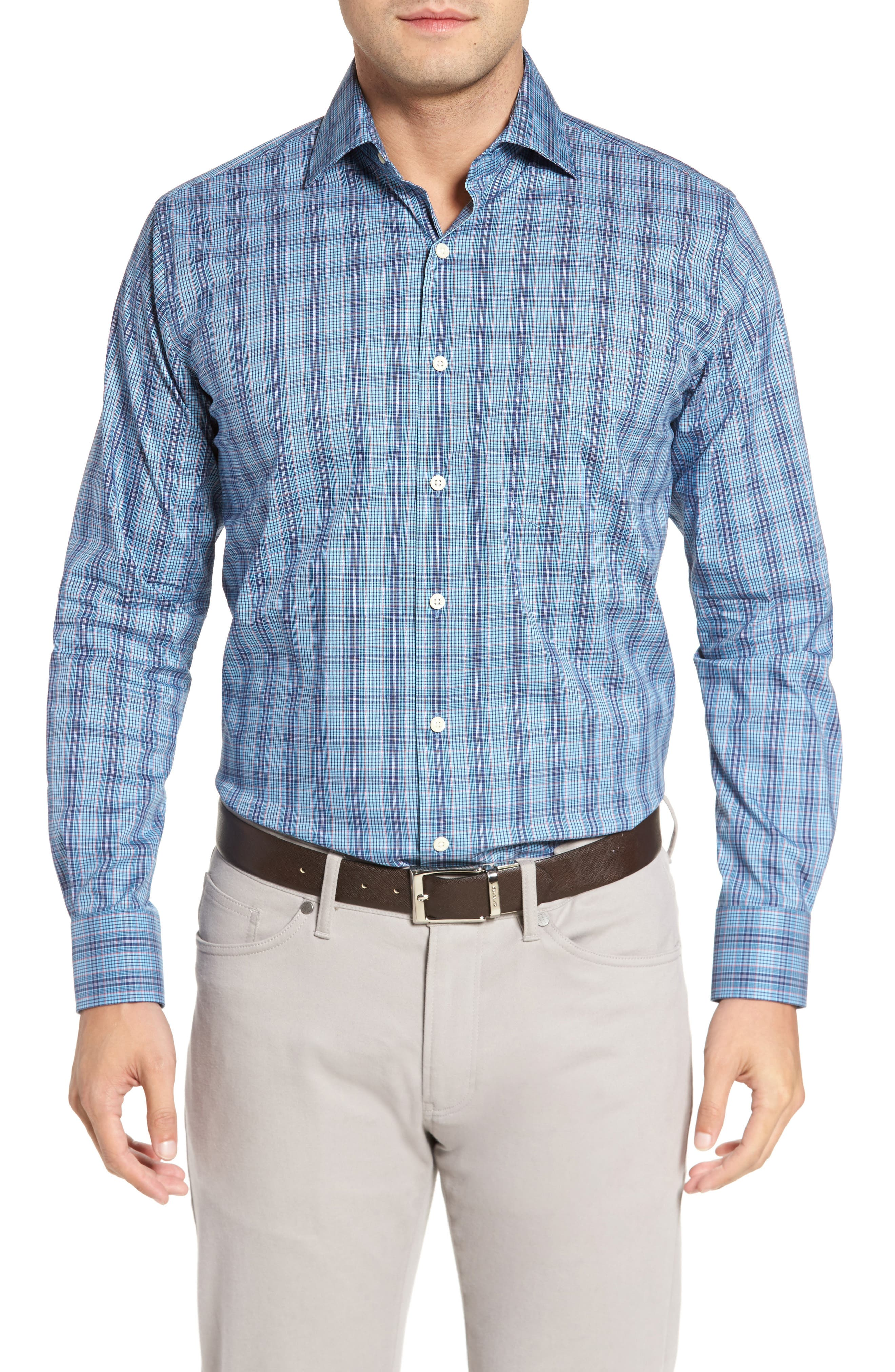 Classic Fit Crown Comfort Homestead Glen Sport Shirt,                         Main,                         color, 951
