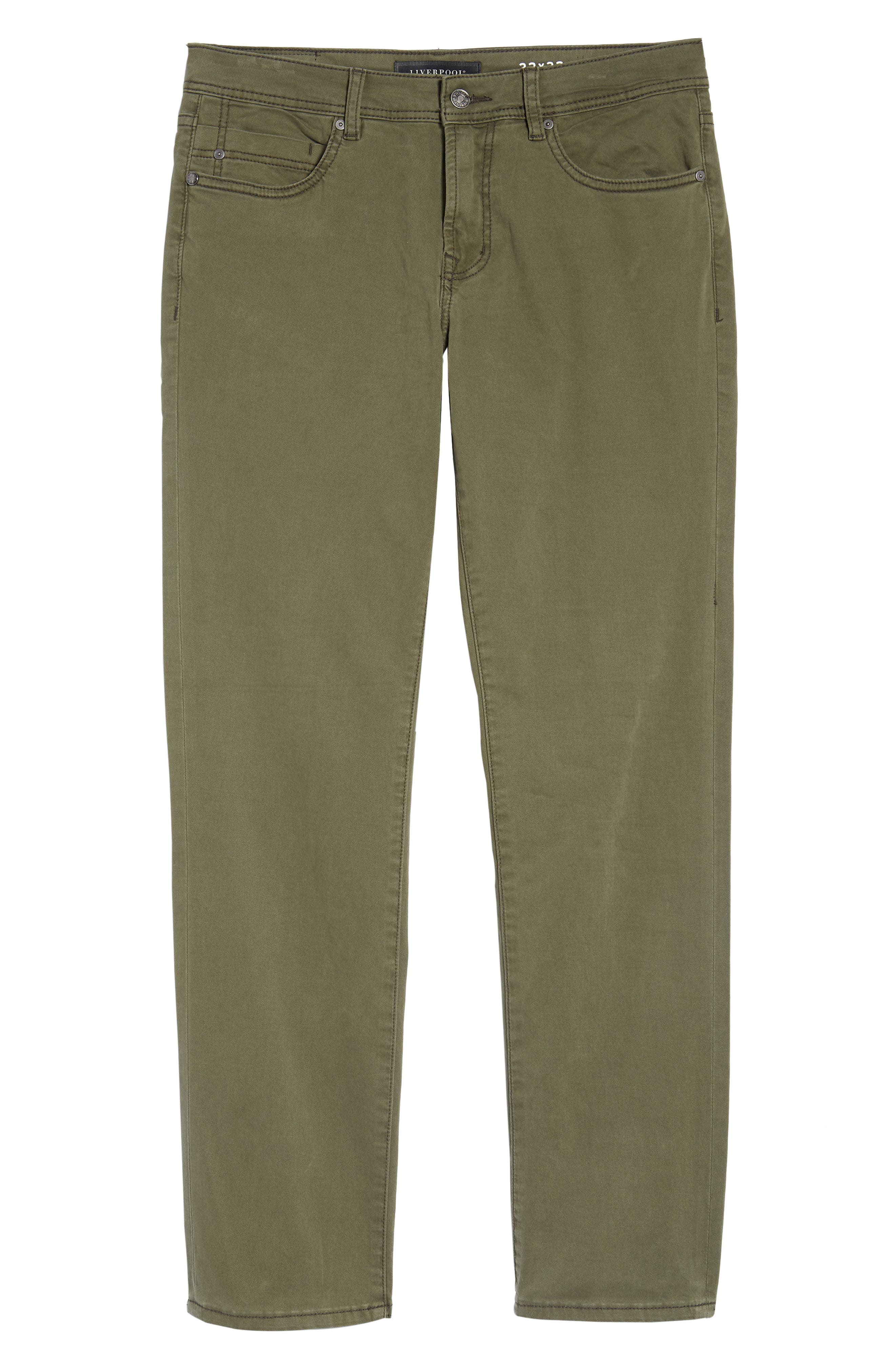 Jeans Co. Regent Relaxed Fit Jeans,                             Alternate thumbnail 6, color,                             OLIVE NIGHT