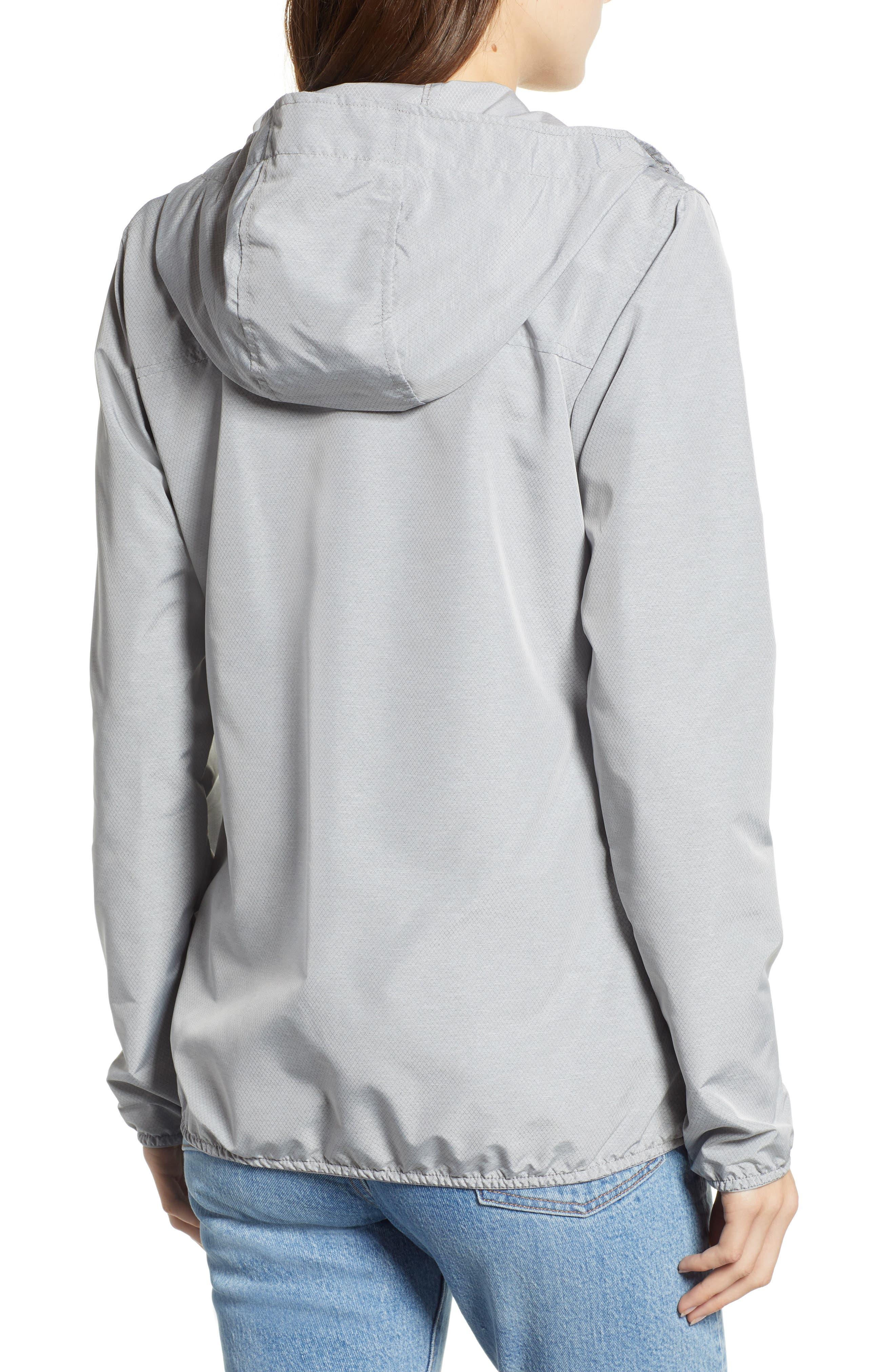 oyage Wind Hooded Jacket,                             Alternate thumbnail 2, color,                             LIGHT GREY CROSSHATCH