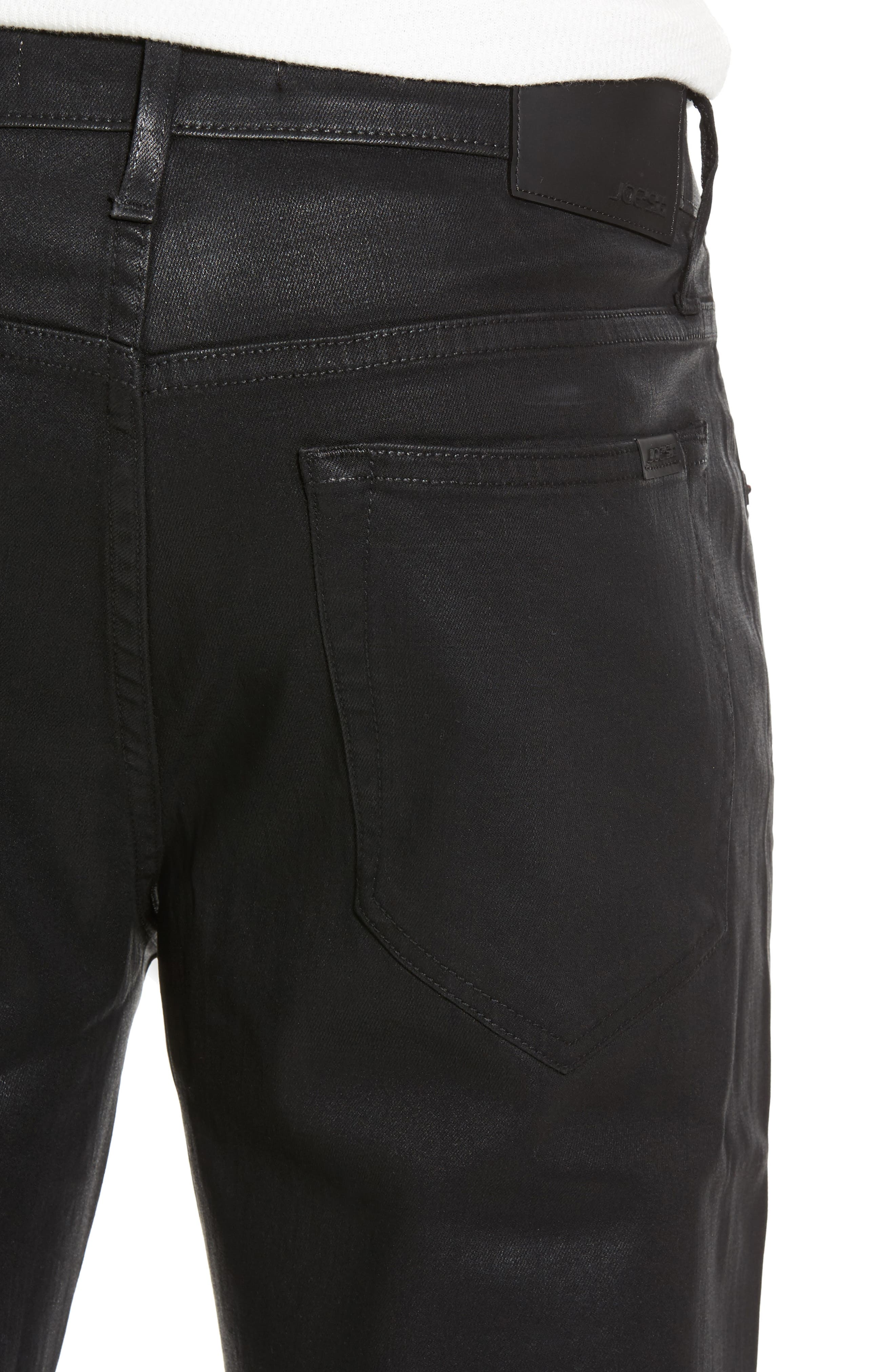 Coated Slim Fit Jeans,                             Alternate thumbnail 4, color,