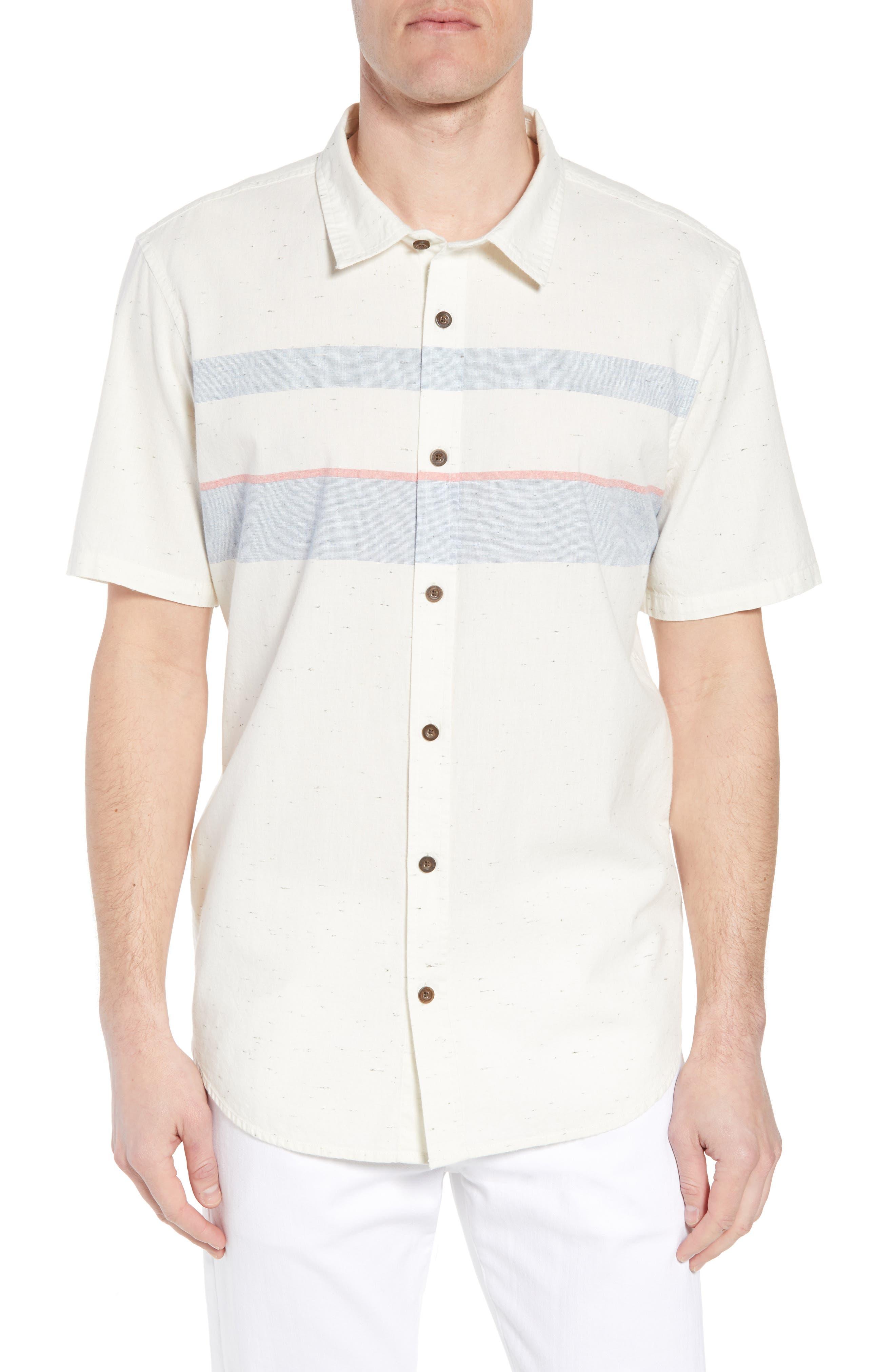 Charter Regular Fit Short Sleeve Sport Shirt,                         Main,                         color, WHITE