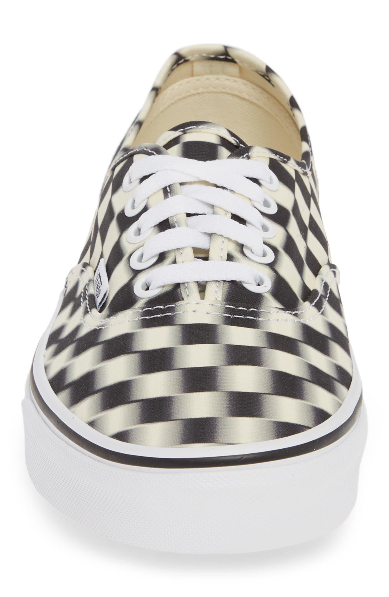 VANS,                             UA Authentic Sneaker,                             Alternate thumbnail 4, color,                             BLACK/ CLASSIC WHITE CHECK