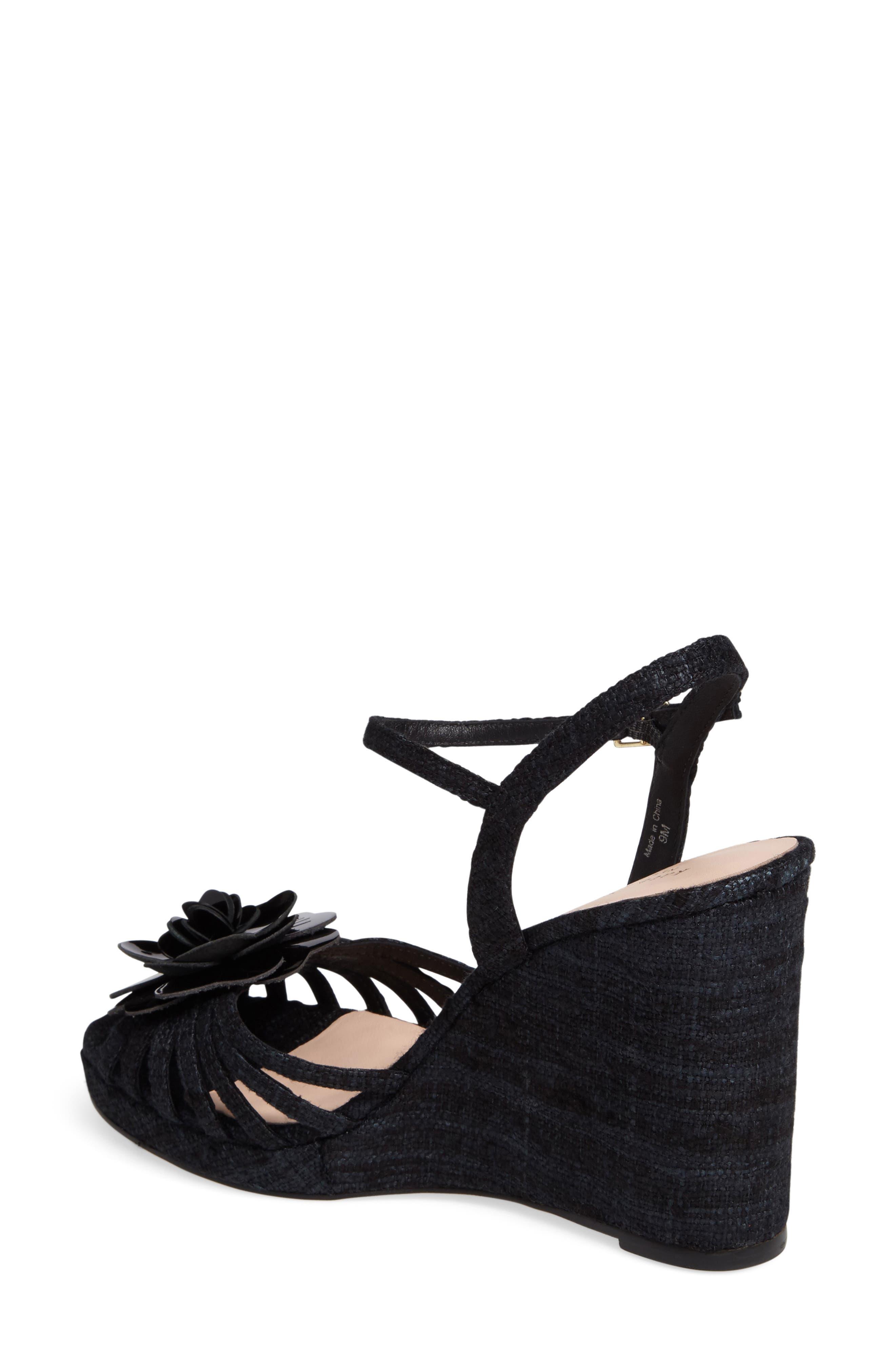 beekman strappy wedge sandal,                             Alternate thumbnail 2, color,                             001