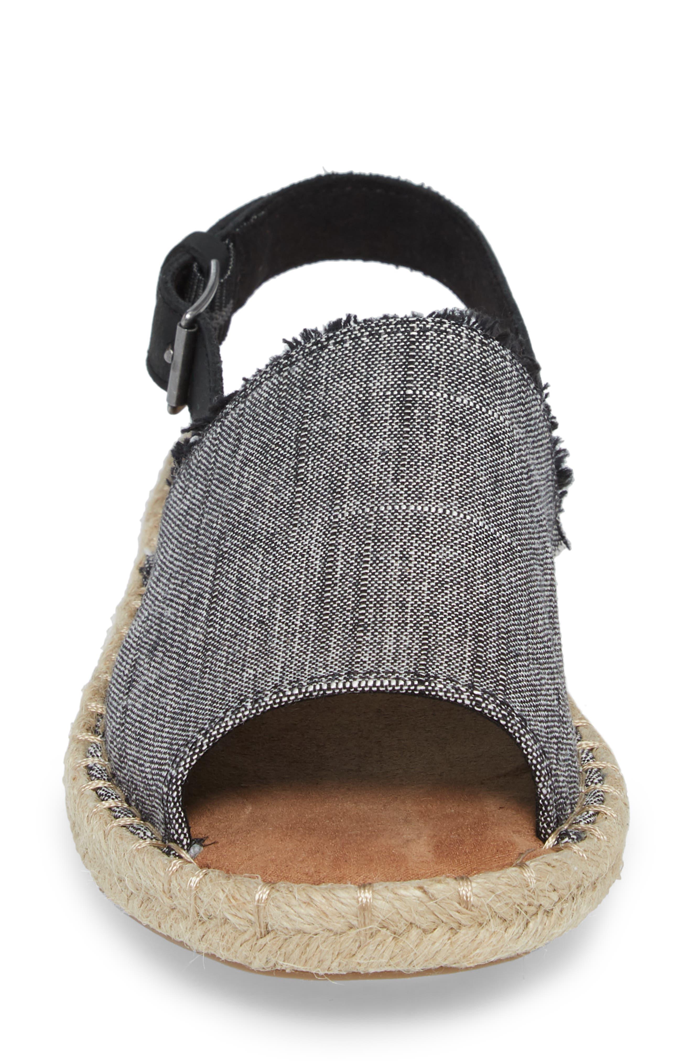Clara Slingback Sandal,                             Alternate thumbnail 4, color,                             002