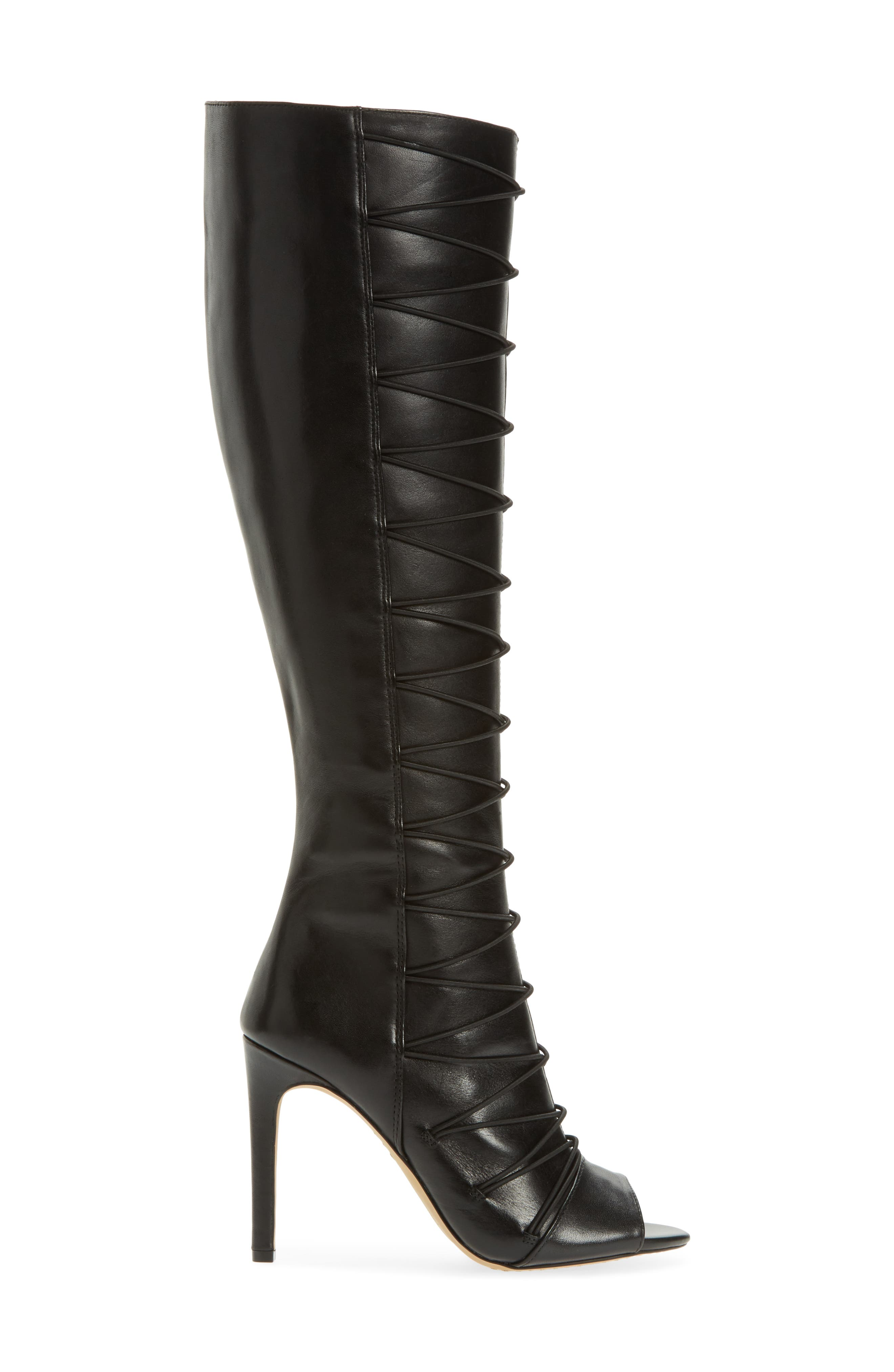 Kentra Strappy Tall Boot,                             Alternate thumbnail 3, color,                             001
