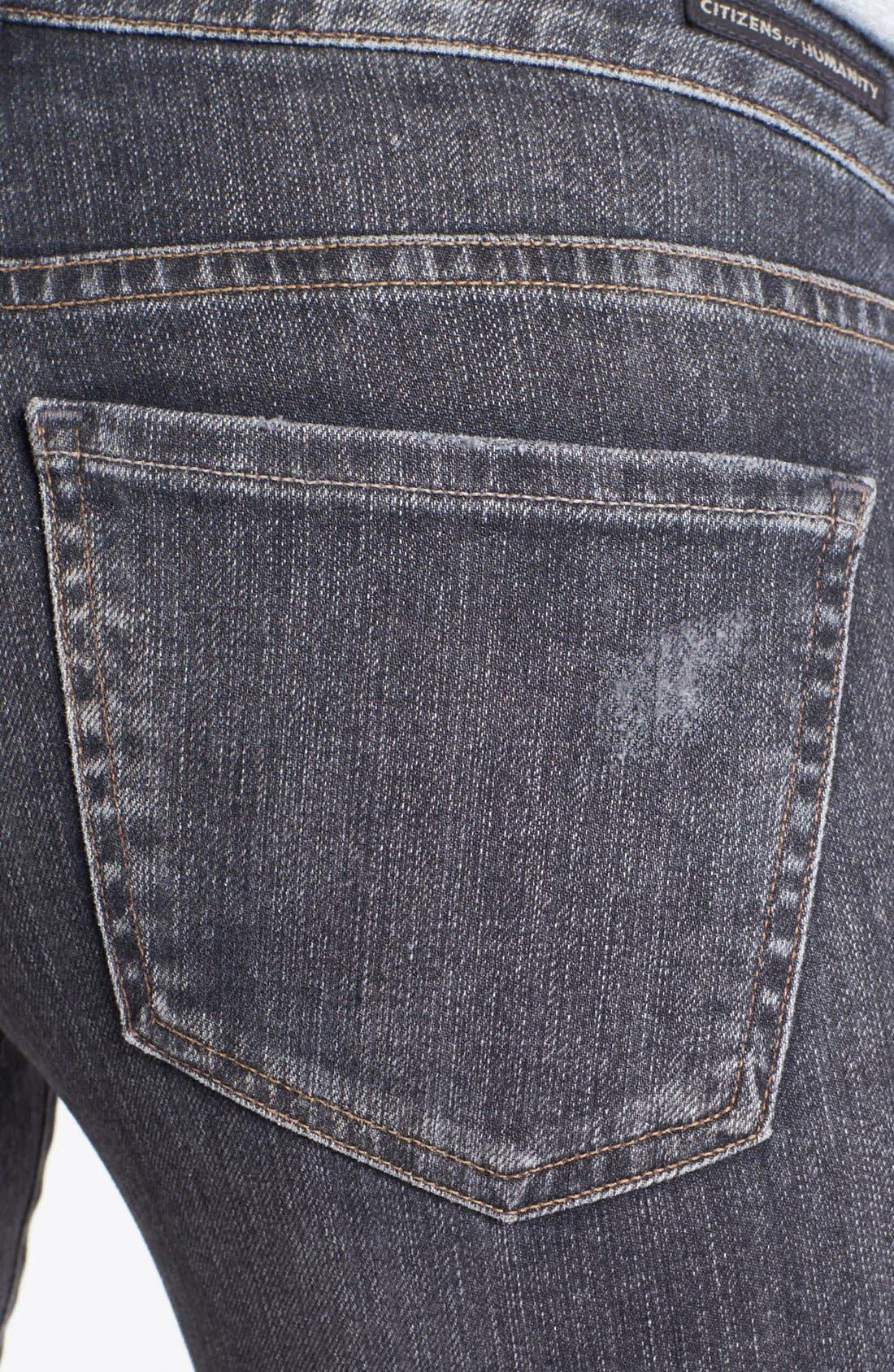 'Racer' Low Rise Skinny Jeans,                             Alternate thumbnail 4, color,                             026