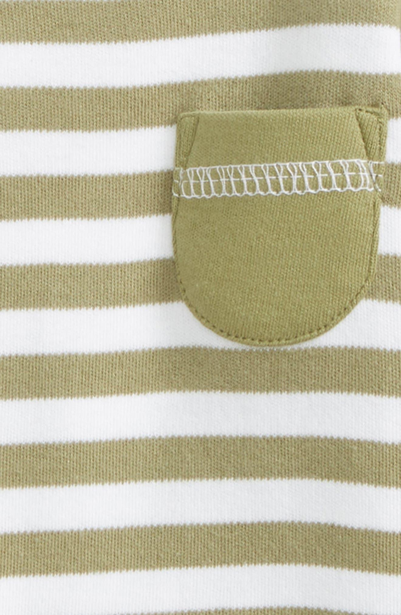 Stripe Organic Cotton Raglan T-Shirt,                             Alternate thumbnail 3, color,