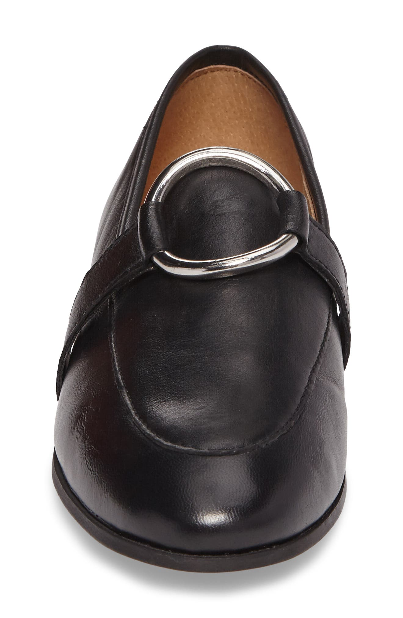 TOPSHOP,                             Kreme Ring Loafer,                             Alternate thumbnail 4, color,                             001