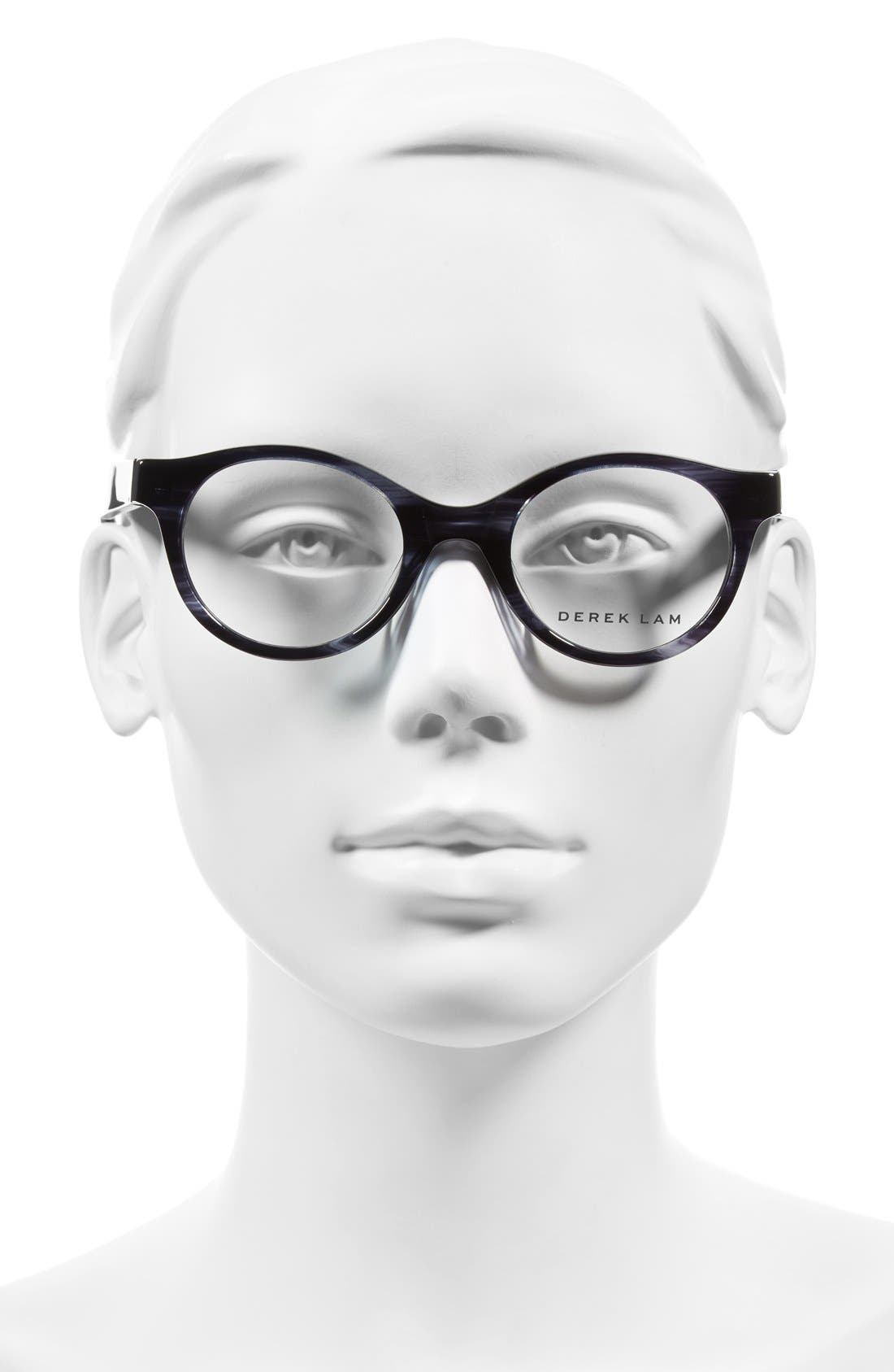 45mm Optical Glasses,                             Alternate thumbnail 2, color,                             MIDNIGHT FEATHER