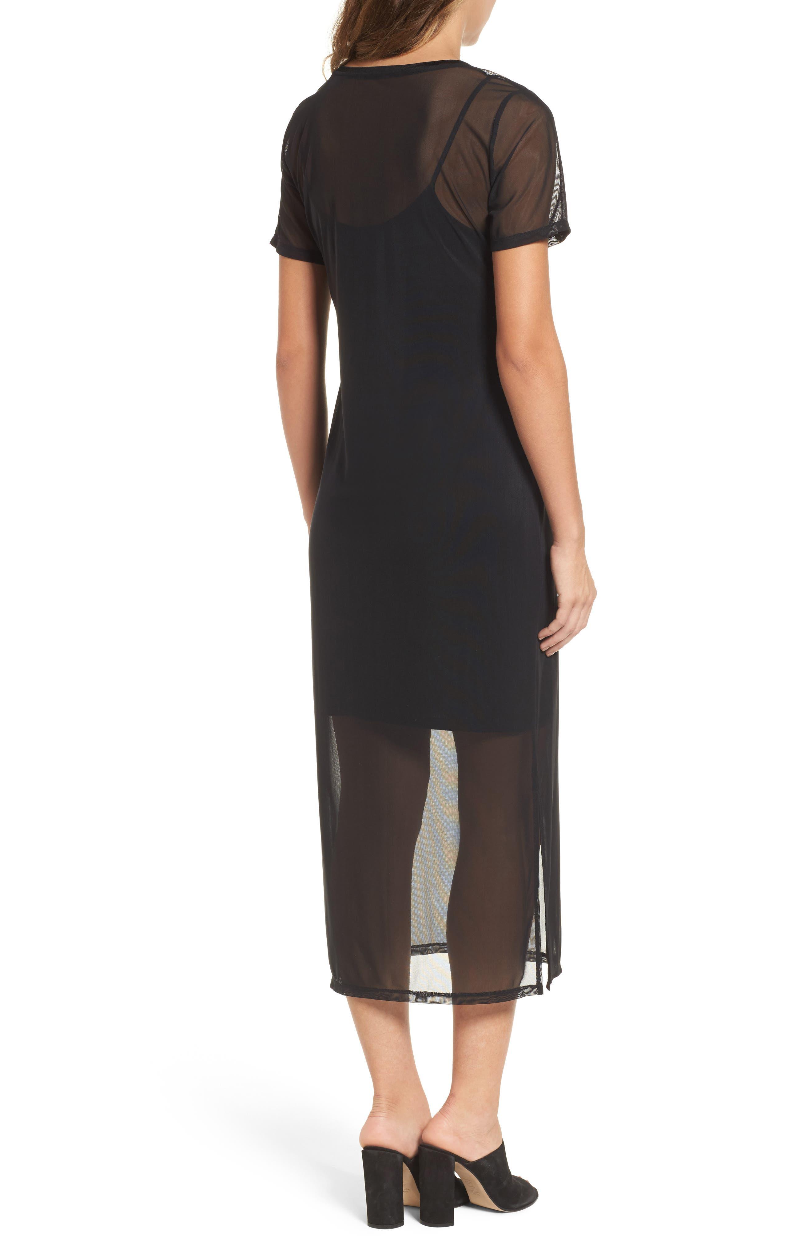 Mesh Midi Dress,                             Alternate thumbnail 2, color,