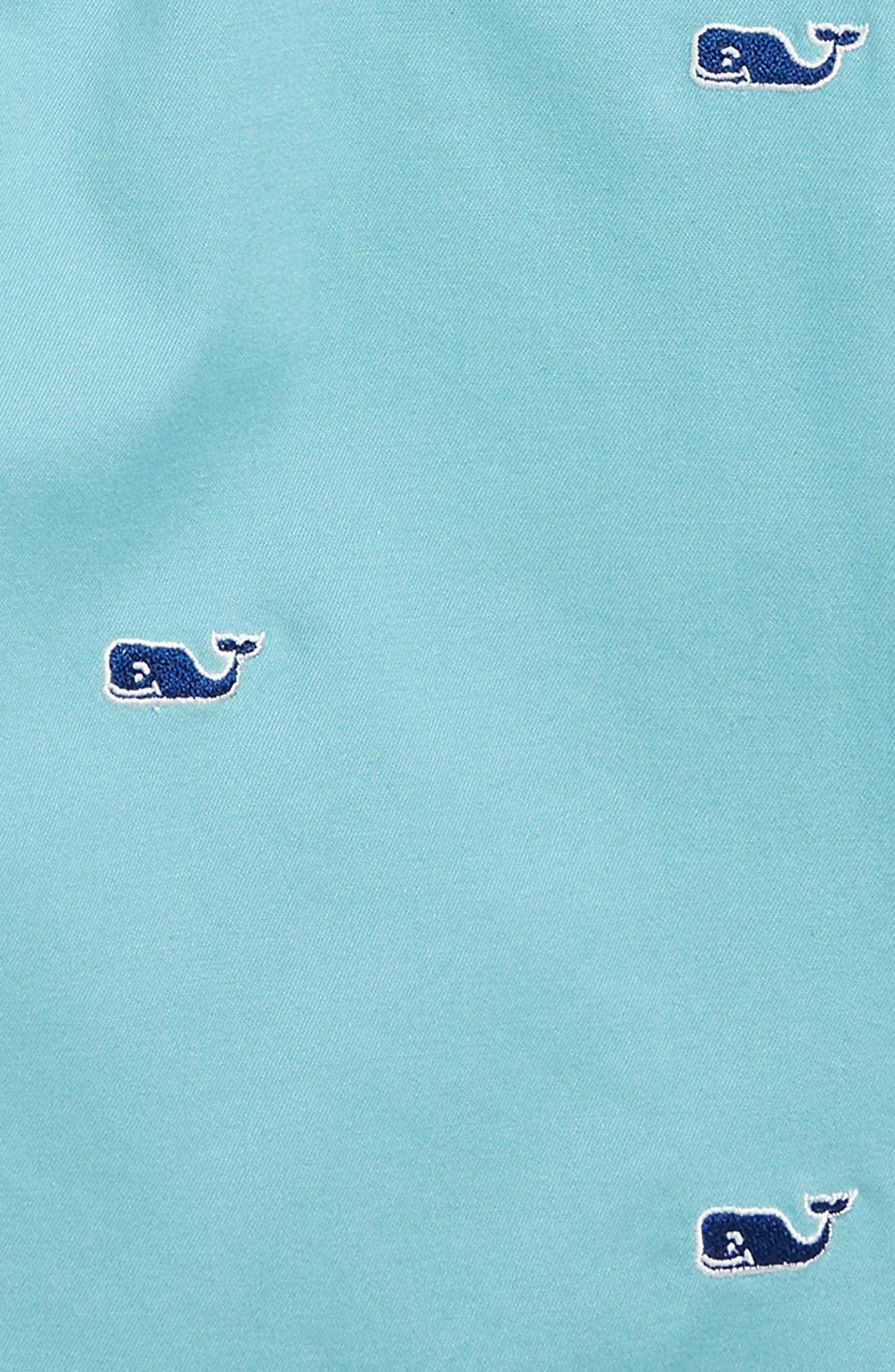 Whale Embroidered Breaker Shorts,                             Alternate thumbnail 2, color,                             AQUA OCEAN