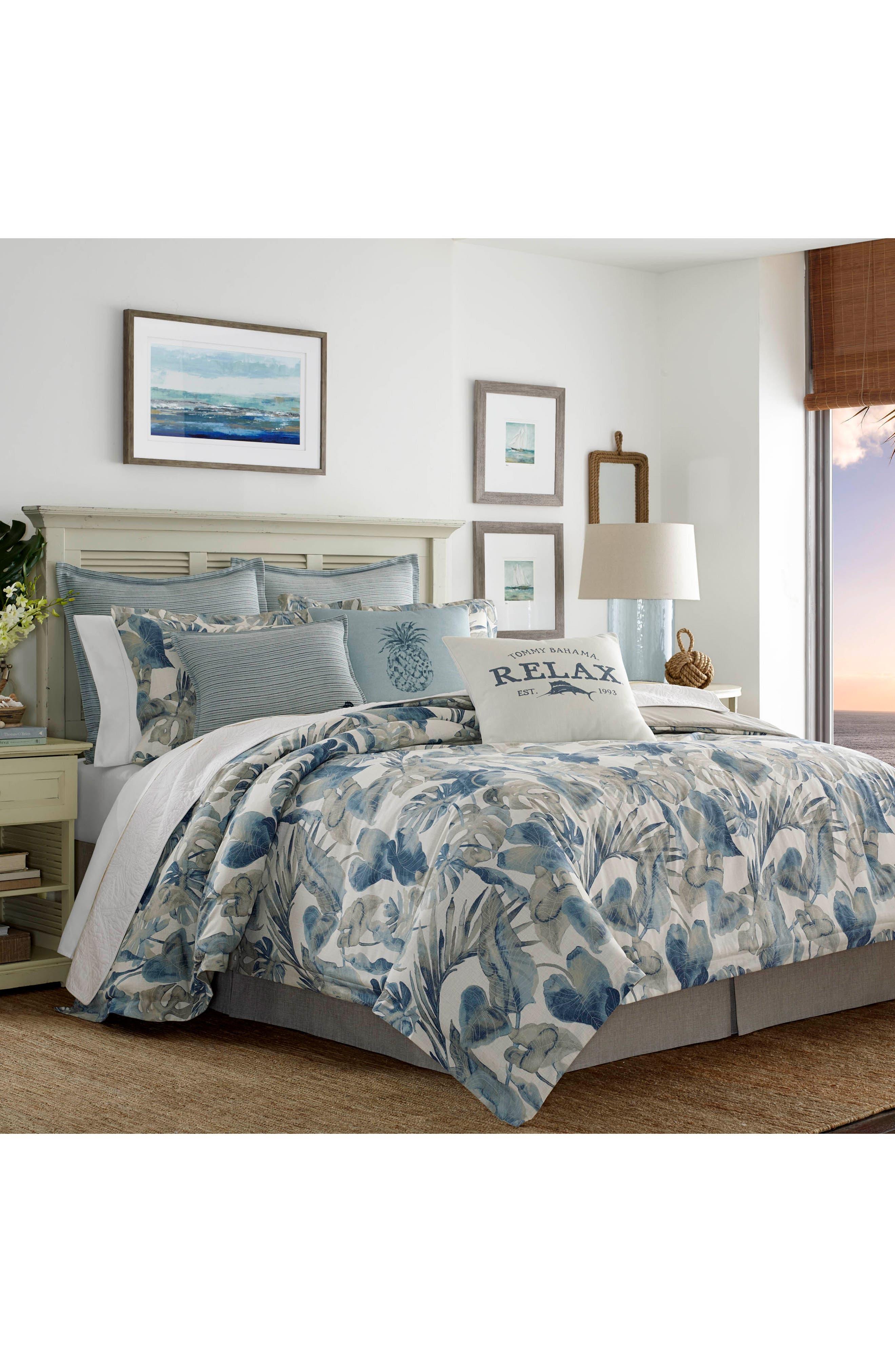 TOMMY BAHAMA Raw Coast Comforter, Sham & Bed Skirt Set, Main, color, 400